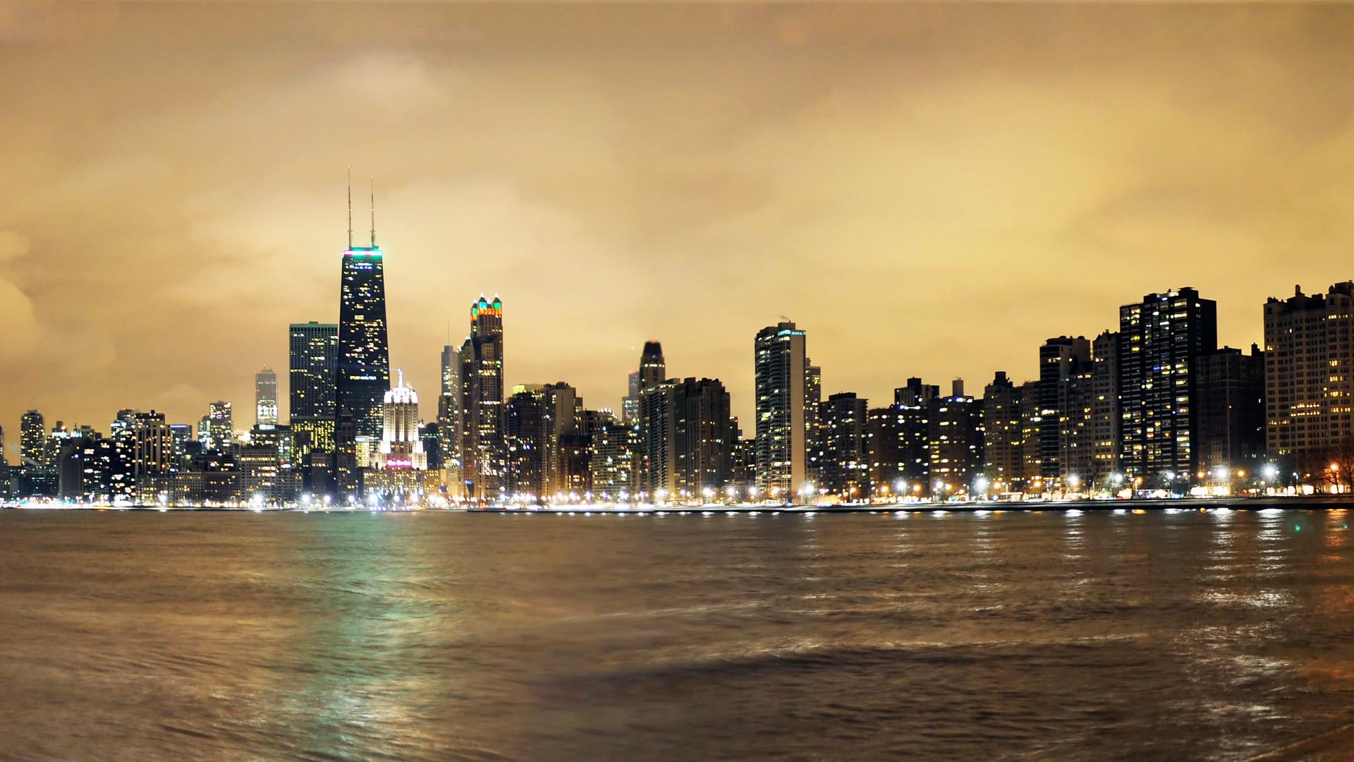Chicago skyline wallpaper 72 images - Skyline night wallpaper ...