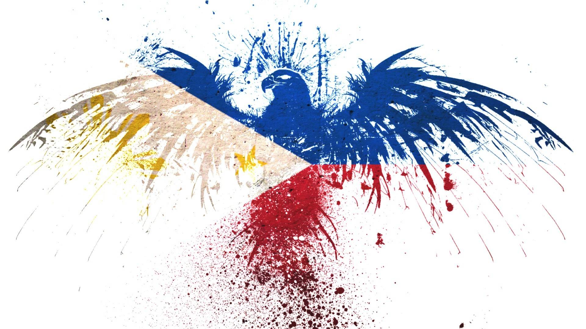 1920x1080 Hawk Flags Philippines White Background Wallpaper