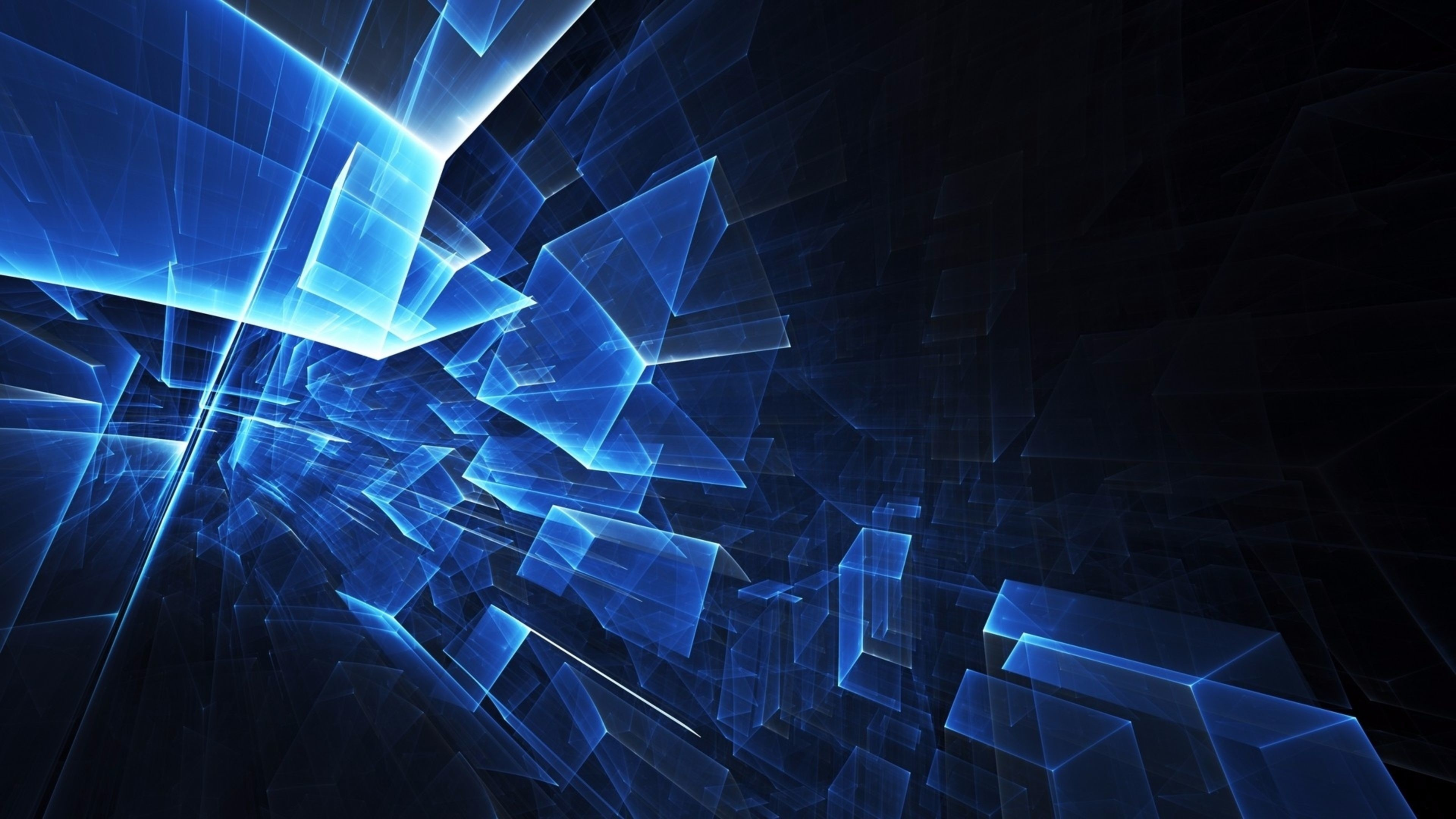 3840x2160 ... Wallpapers 4k Abstract Wallpaper Blue Cubes 4K | Free Computer  Backgrounds abstract wallpaper ...