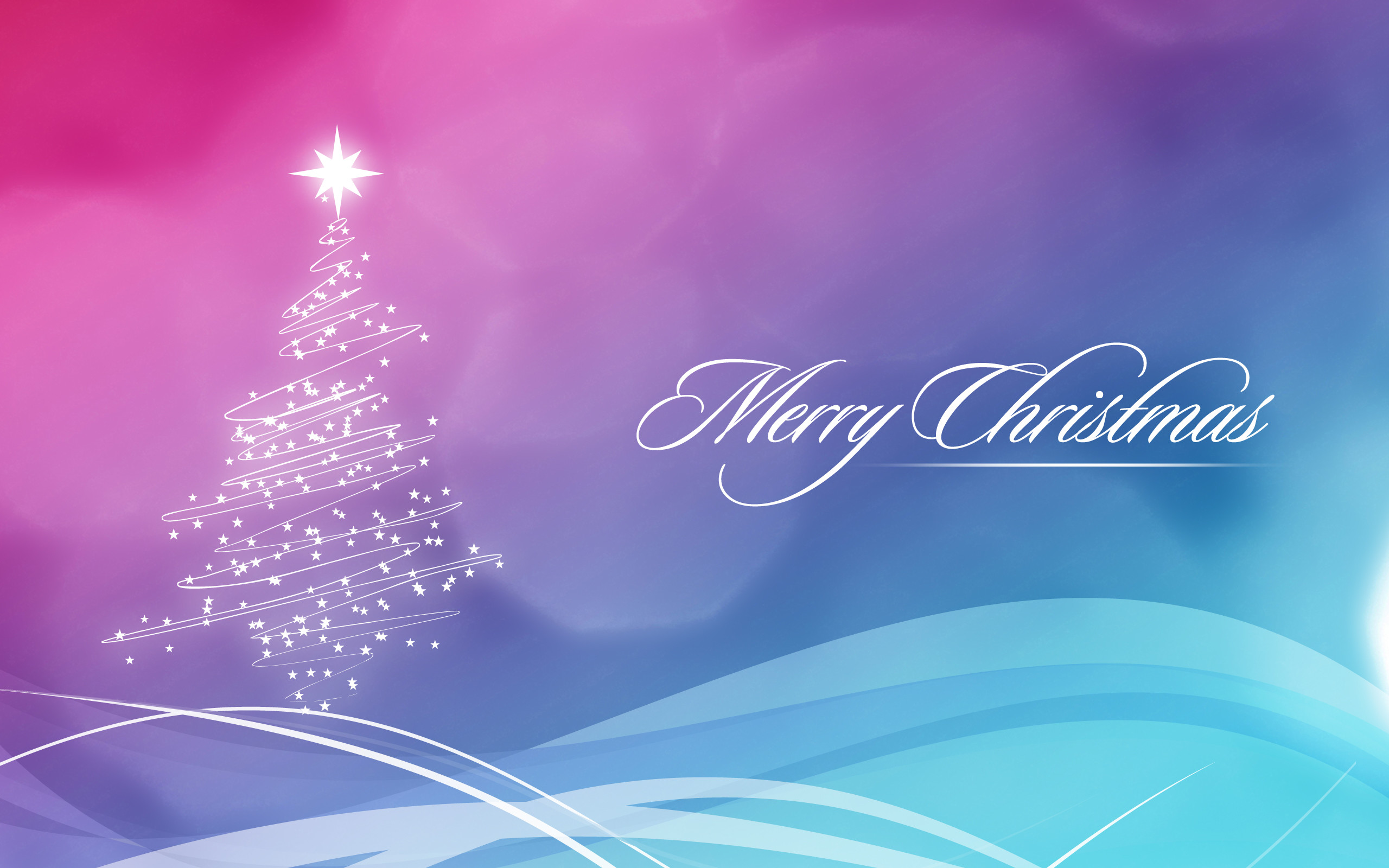 2560x1600 Blue and Pink Christmas Wallpaper wallpapers and stock photos
