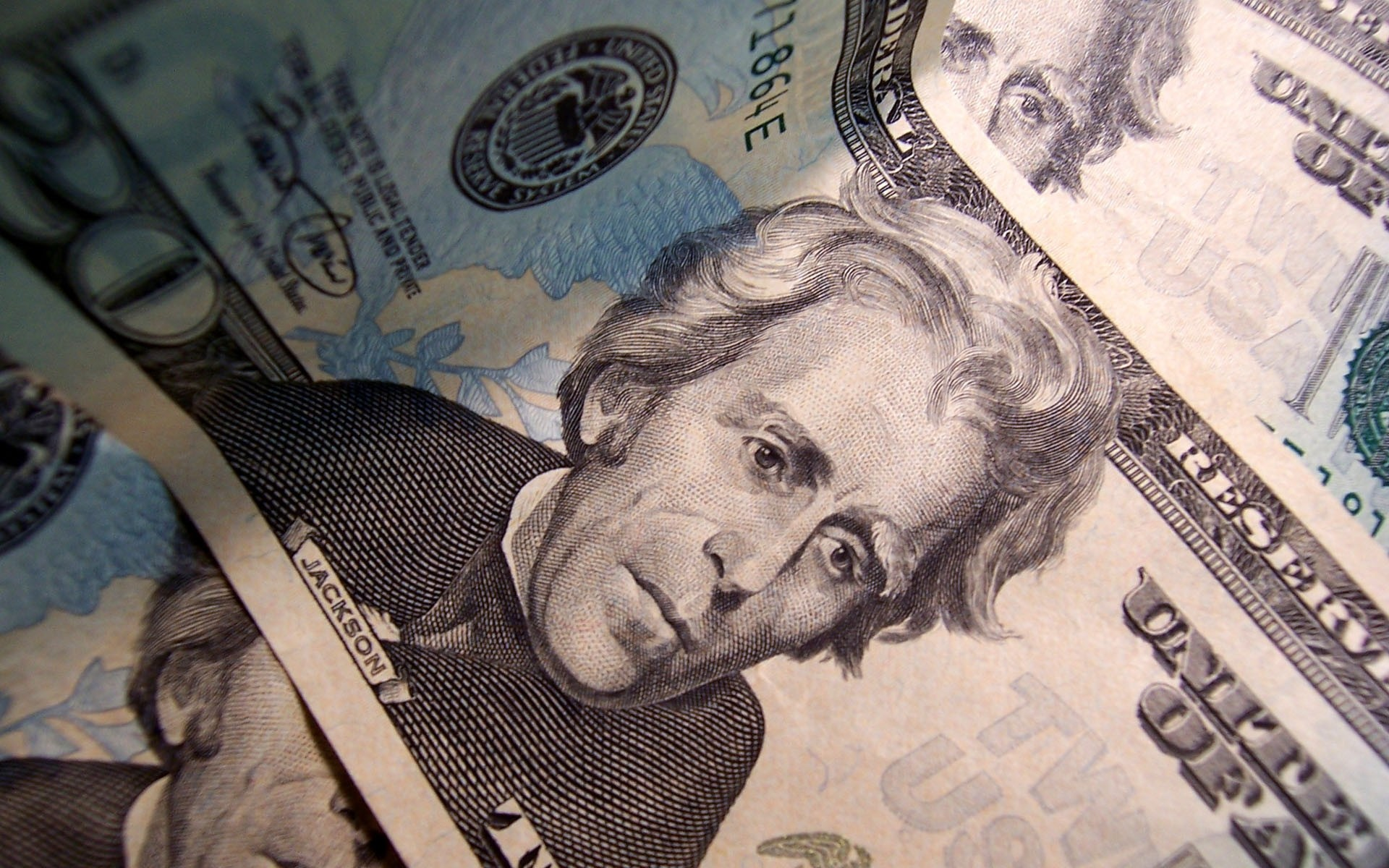 1920x1200 Andrew Jackson on Twenty Dollar Bill wallpaper