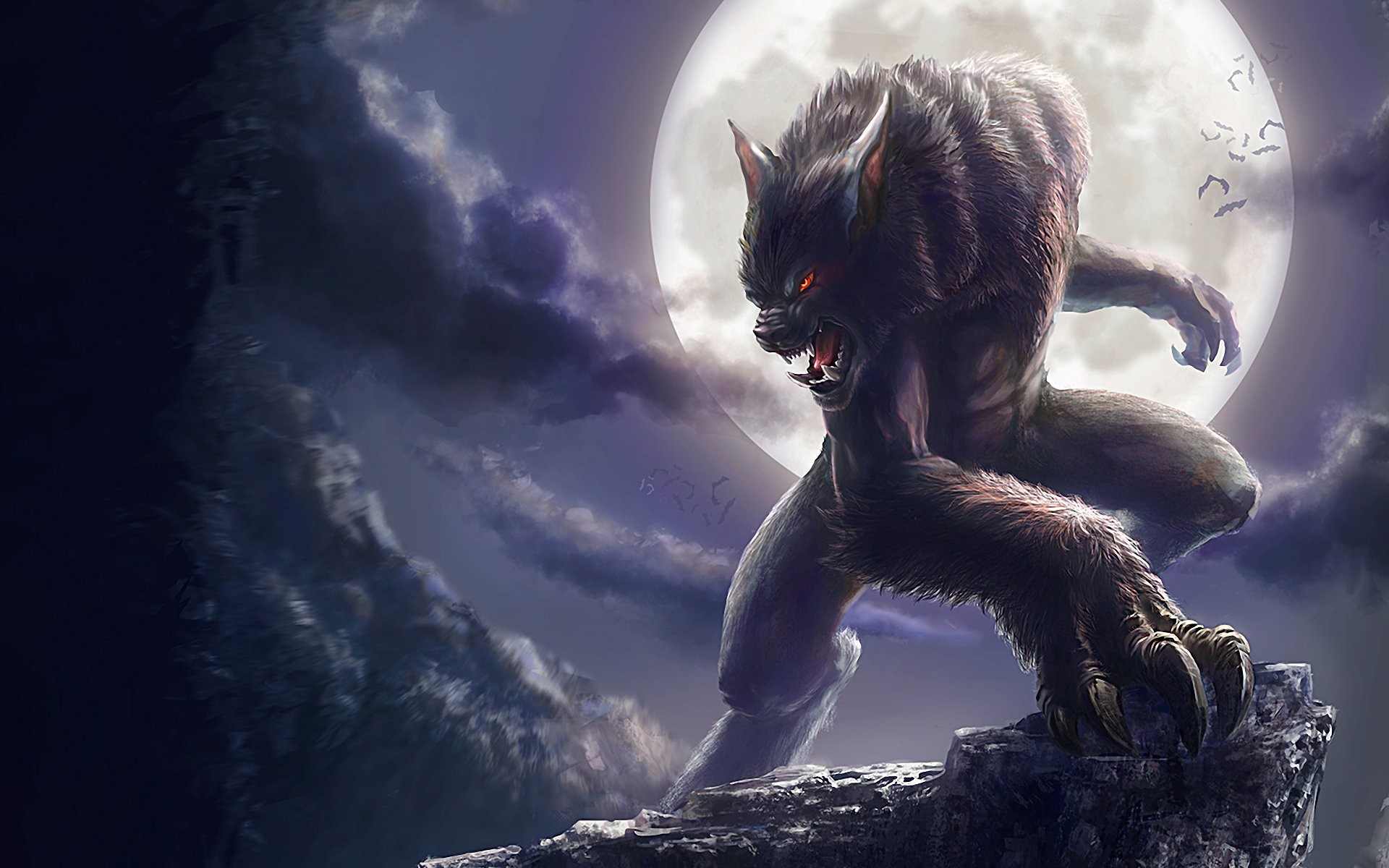 1920x1200 HD Wallpaper | Background ID:239335.  Dark Werewolf