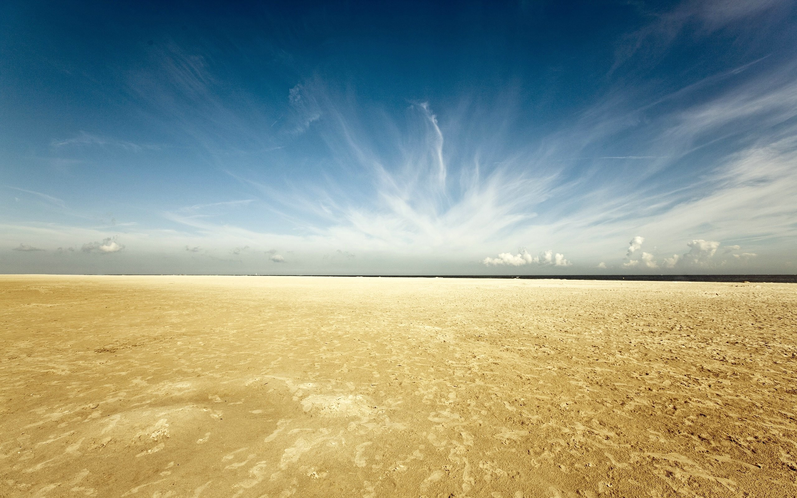 2560x1600 sky, clouds, desert, sand, horizon · Beach WallpaperHd ...