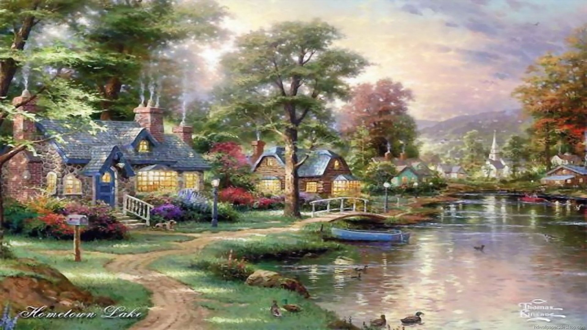 thomas kinkade wallpaper 1920x1080 - photo #14