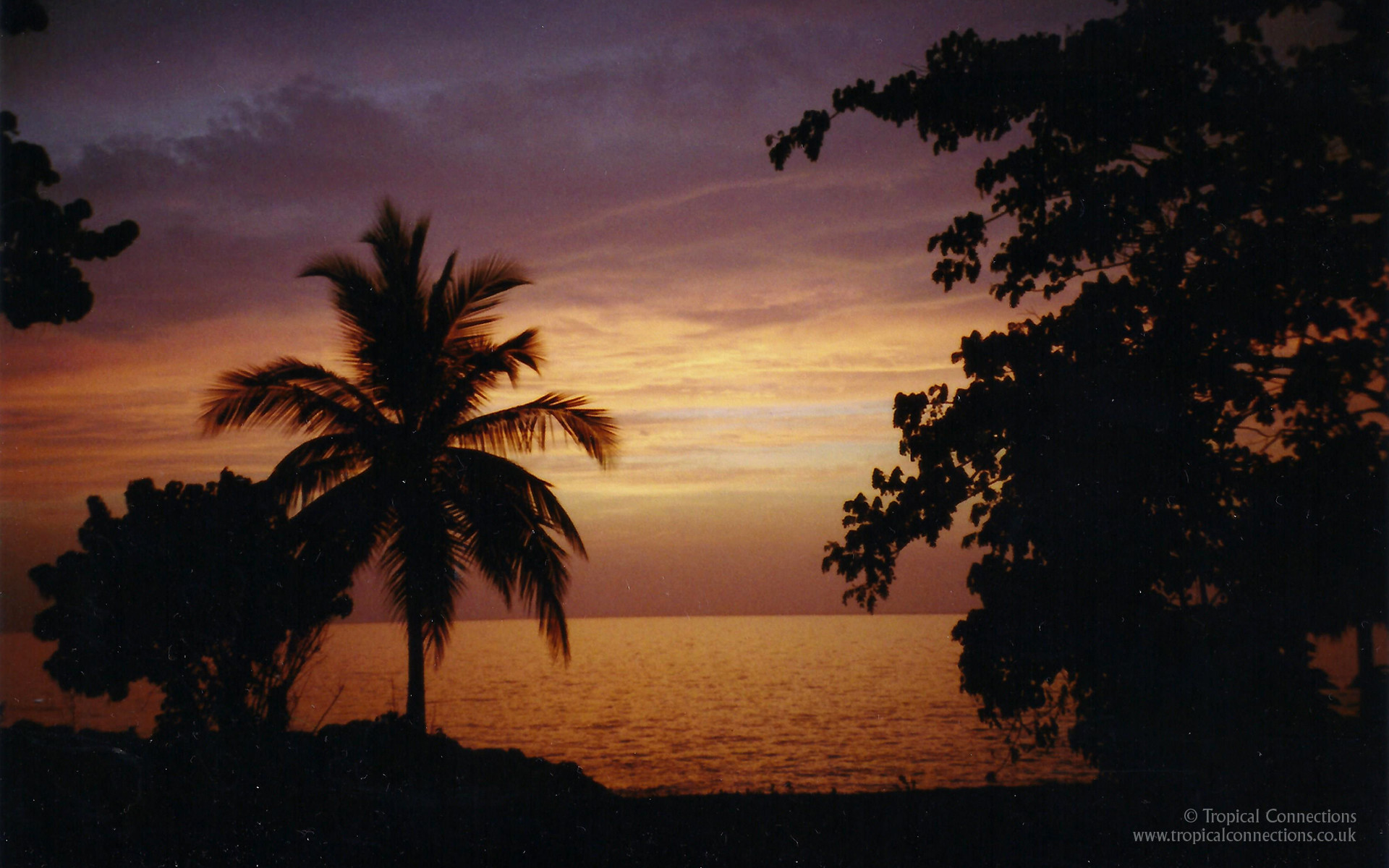 1920x1200 Free Wallpaper – Sunset in Jamaica