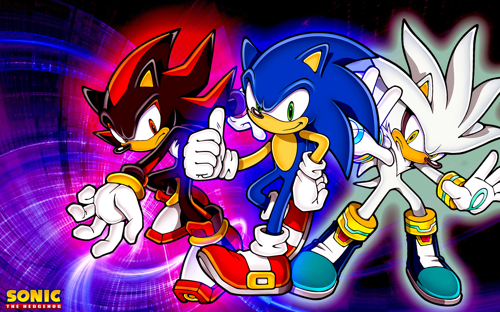 1920x1200 Sonic and Shadow Desktop Pics Wallpapers