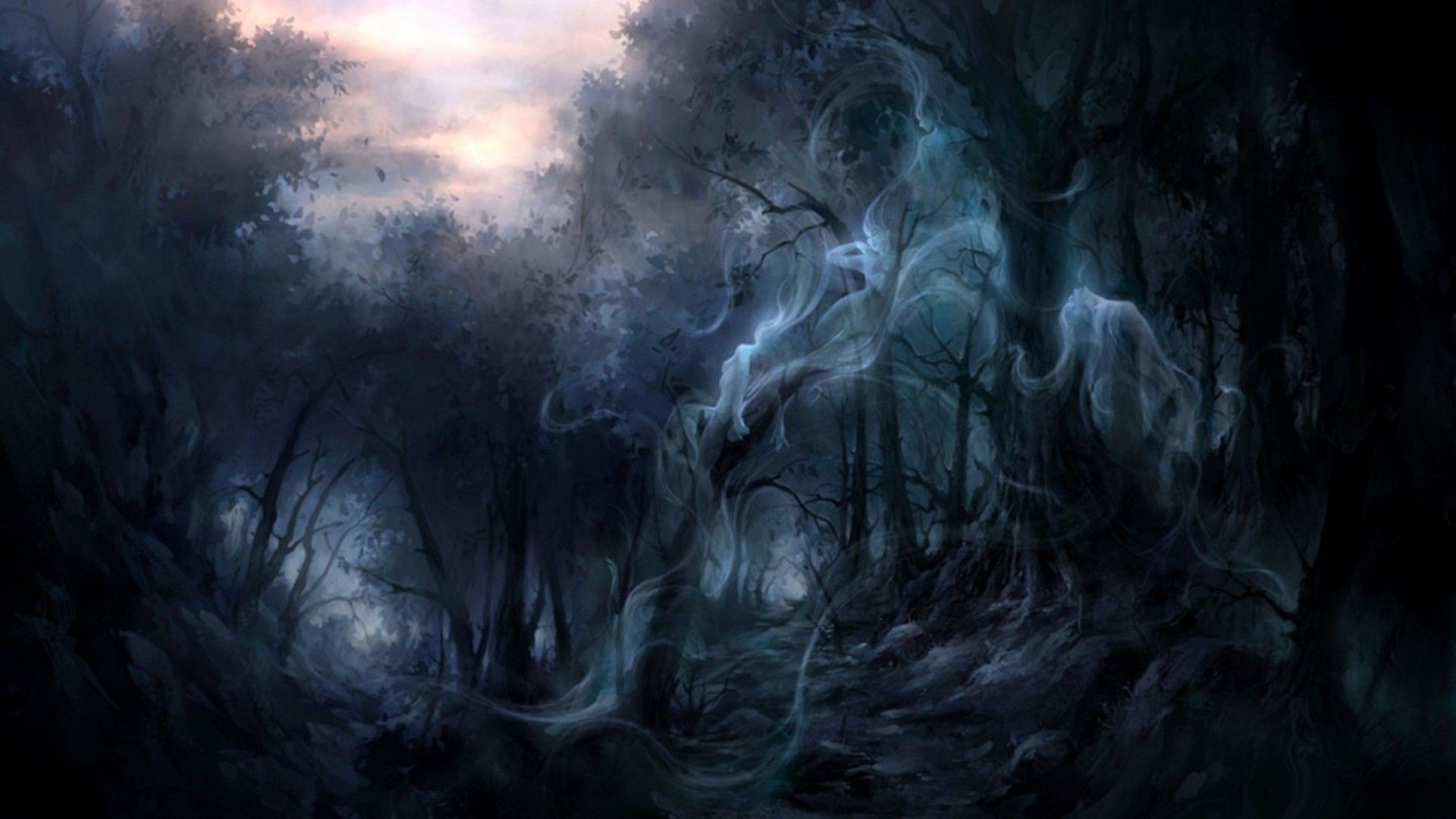 Creepy forest wallpaper