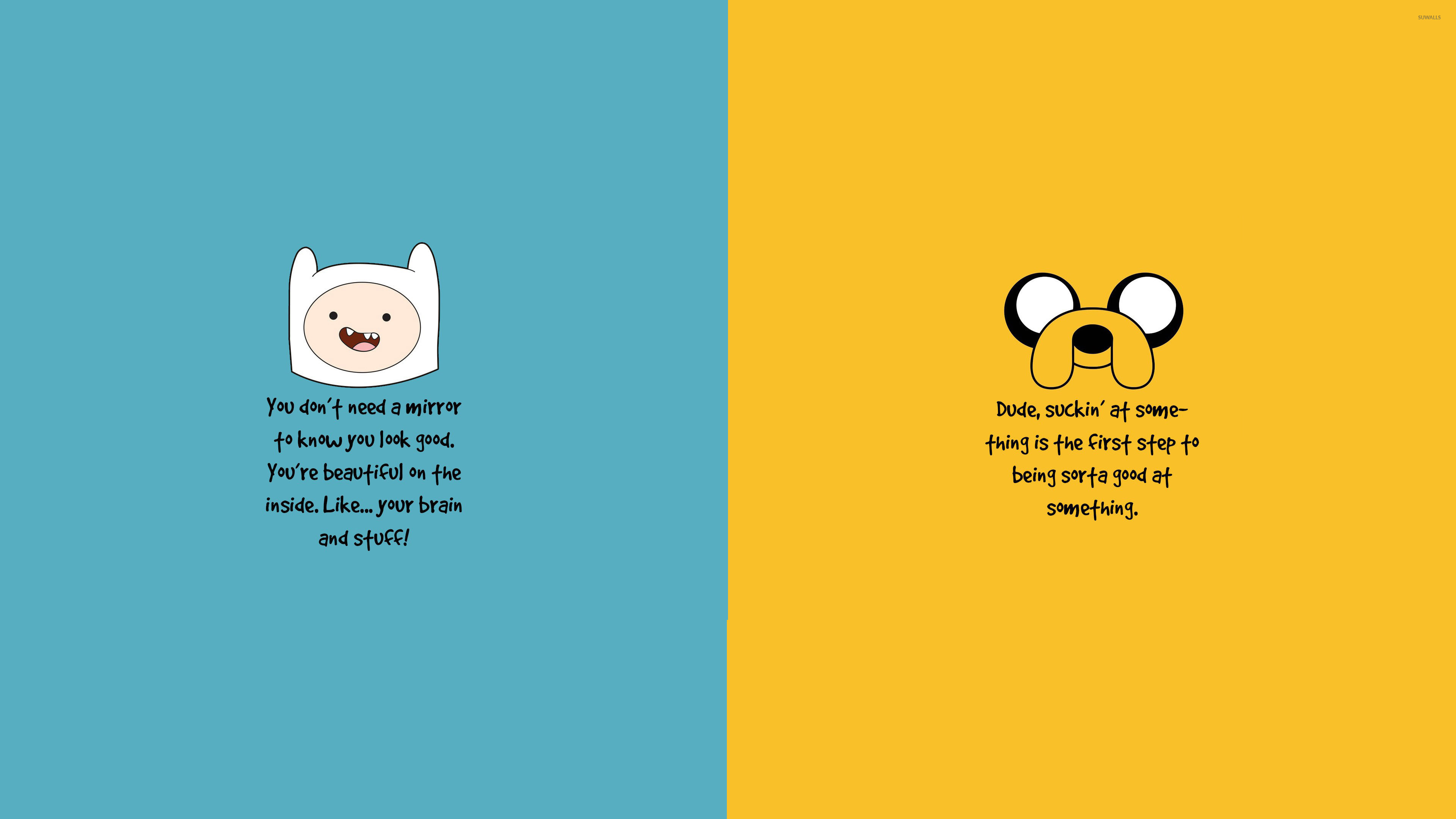 3840x2160 Adventure Time motivation wallpaper