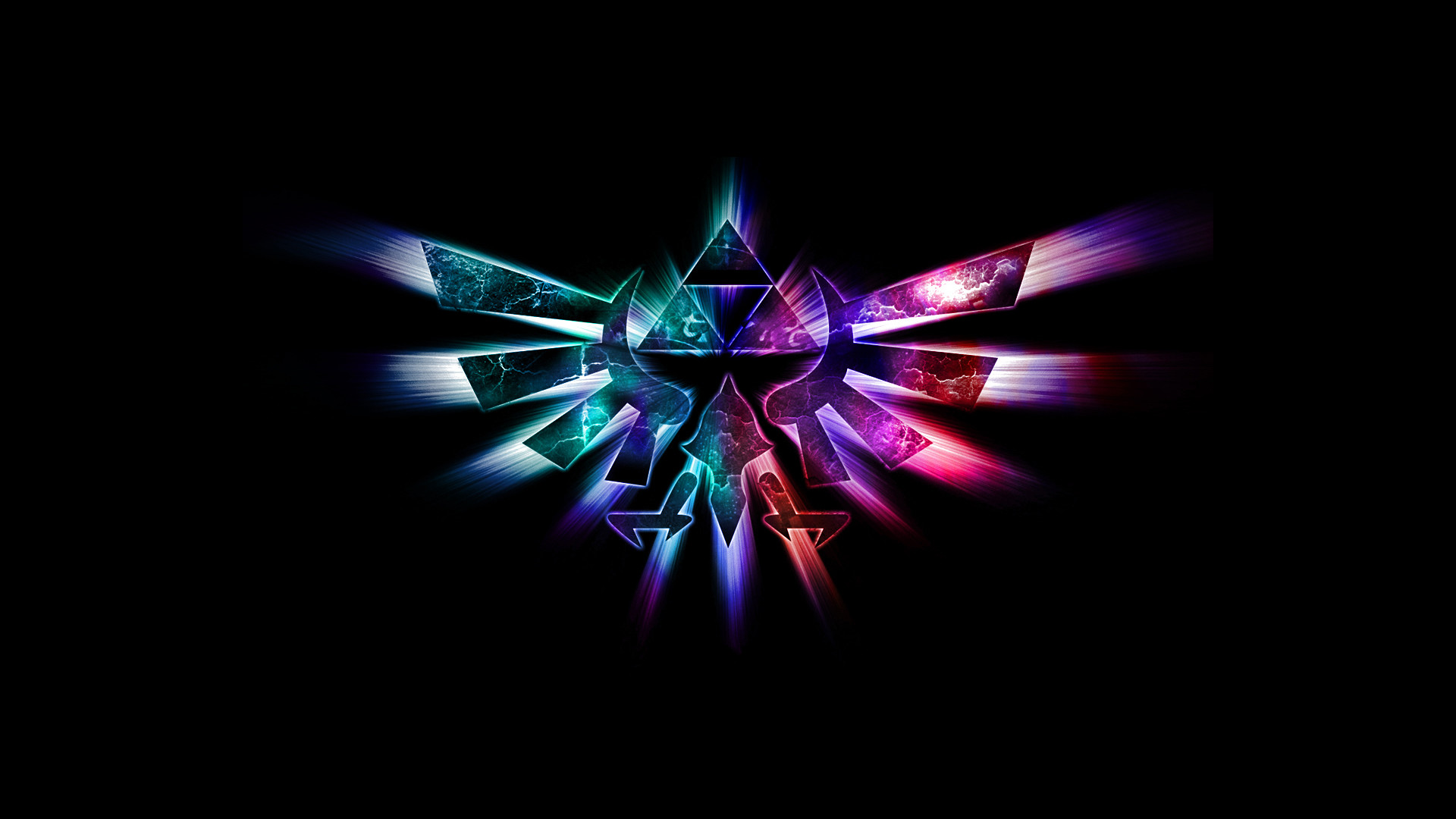1920x1080 triforce zelda hd  neon wallpaper desktop