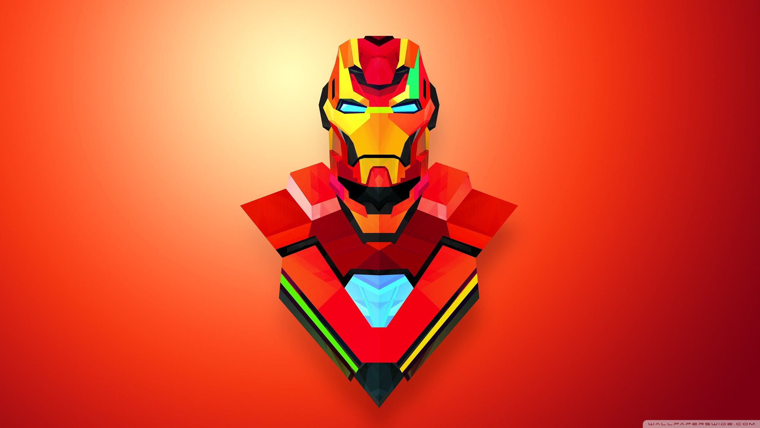 2560x1440 Iron Man Abstract Art HD Wide Wallpaper for Widescreen
