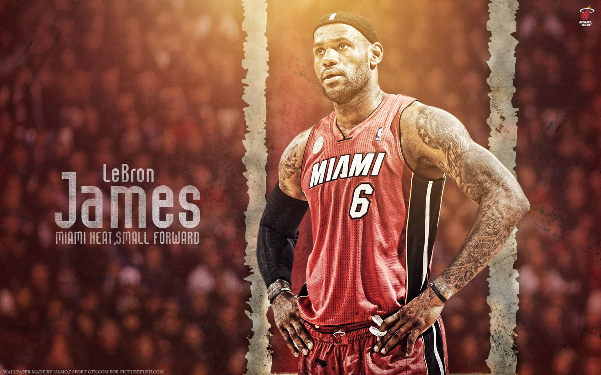 1920x1200 LeBron James Heat 6 1920×1200 Wallpaper