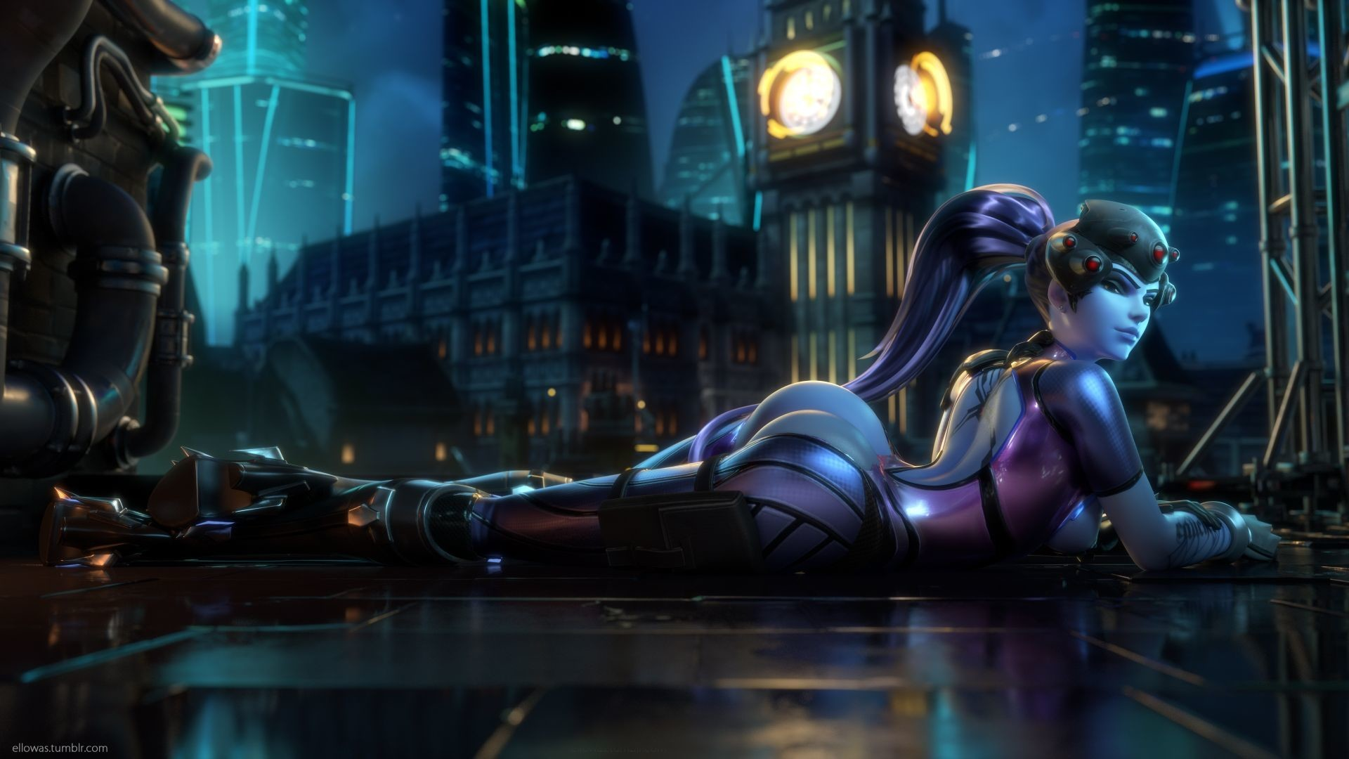 1920x1080 Widowmaker, Overwatch, 4k (horizontal) ...