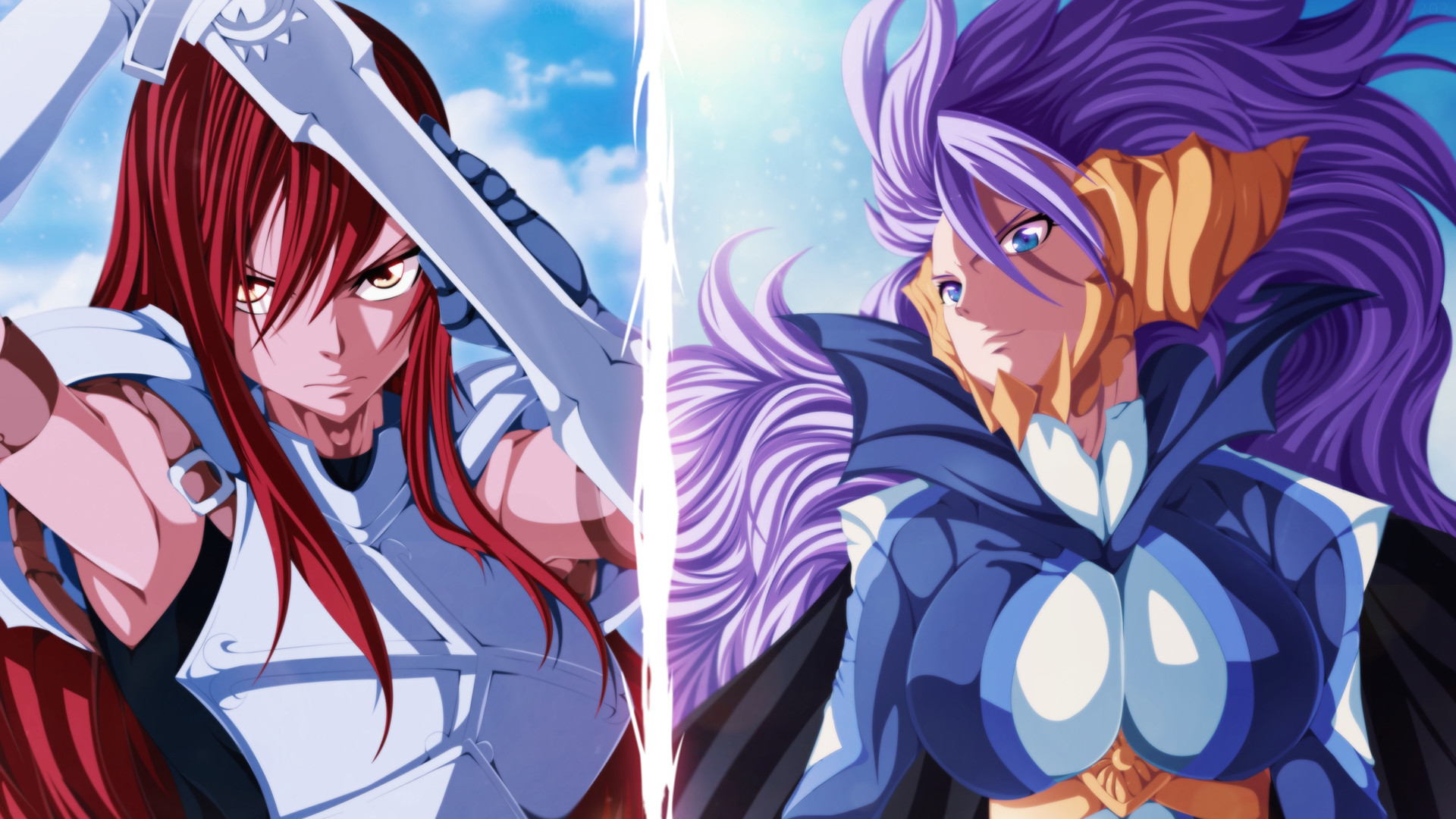 1920x1080 erza scarlet and mirajane staruss satal soul sitri fairy tail