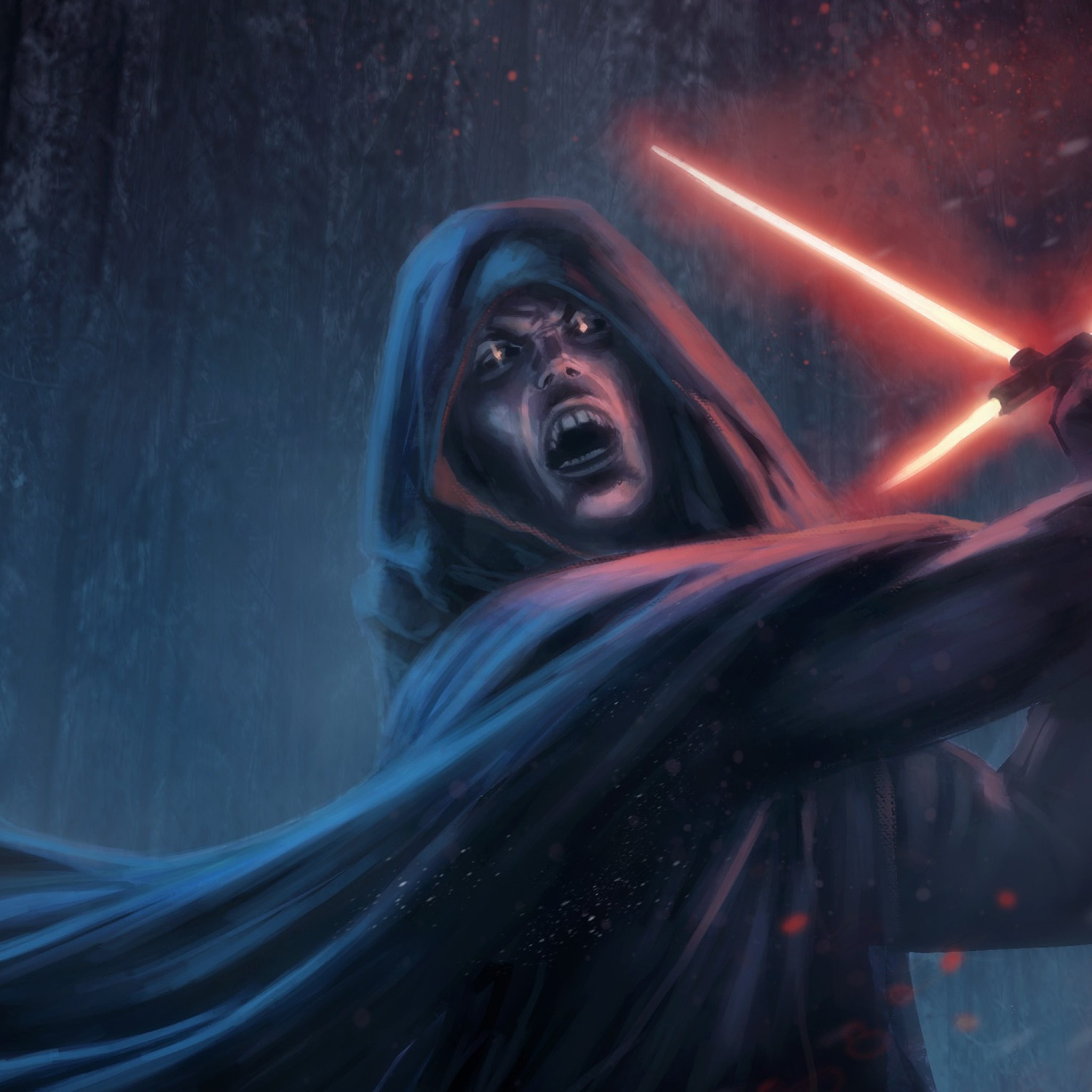 2048x2048 Preview wallpaper star wars episode vii - the force awakens, sith,  lightsaber