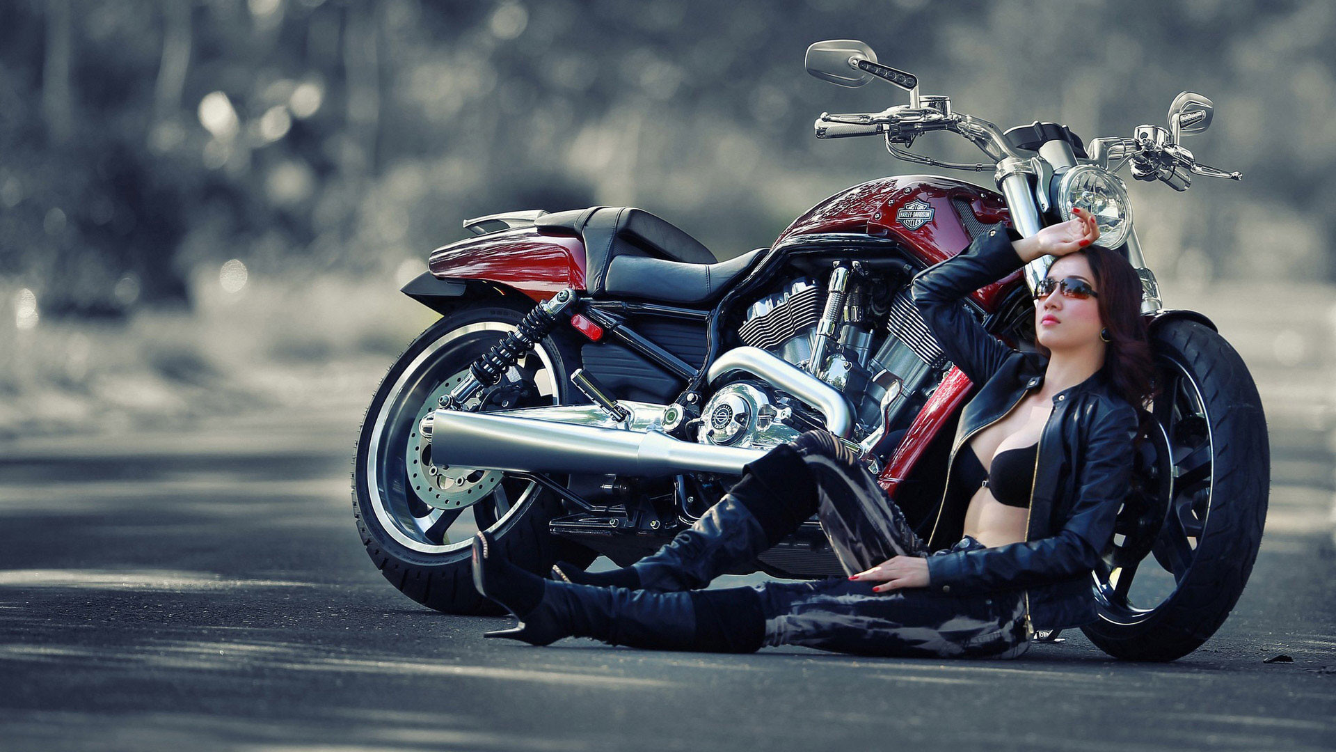 Motorcycle Girl Wallpaper: Girl And Bike Wallpaper (77+ Images