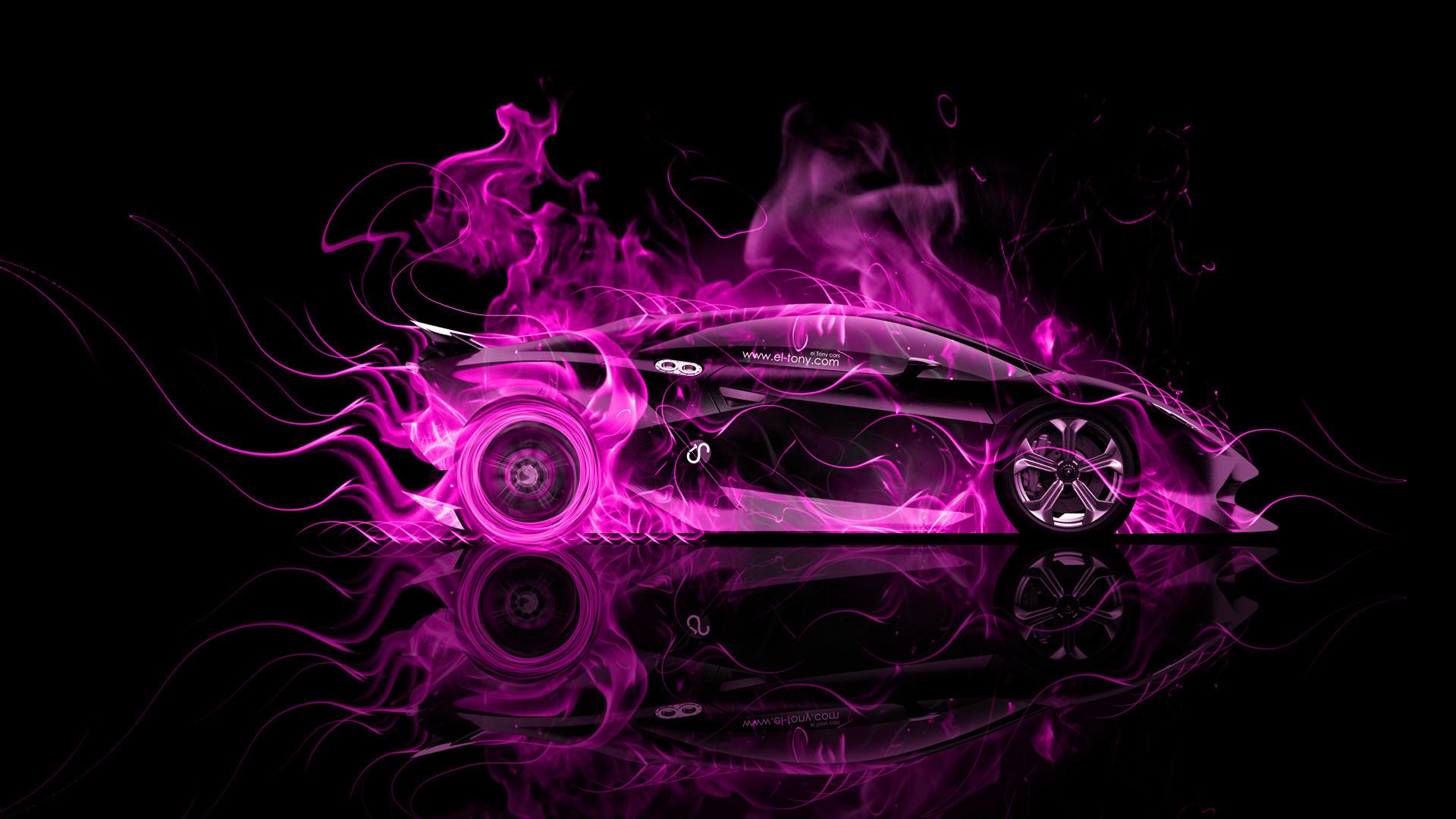 1920x1080 Lamborghini Veneno Open Doors Art Live Violet Colors