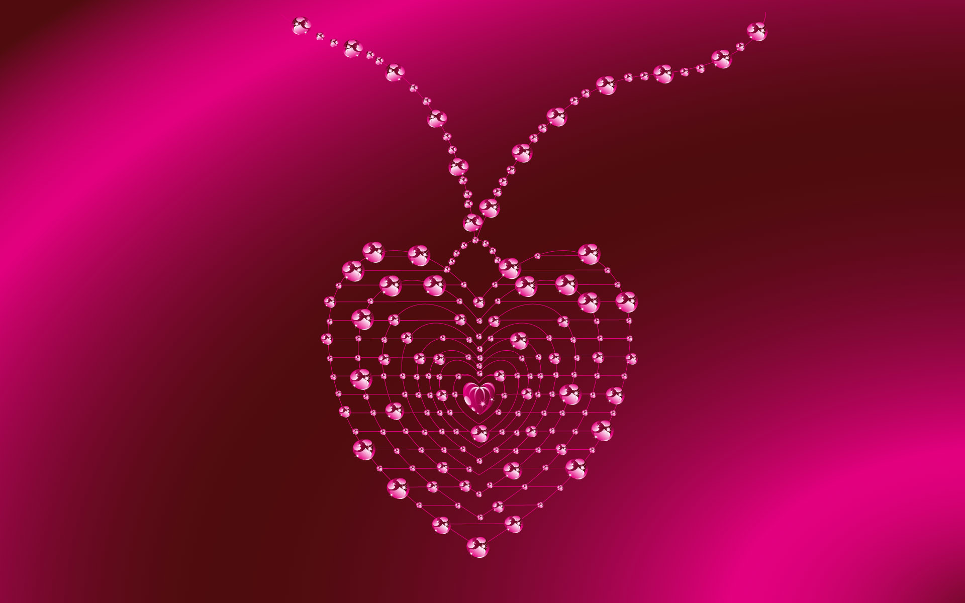 1920x1200 Previous: Pink Jewelry Heart ...