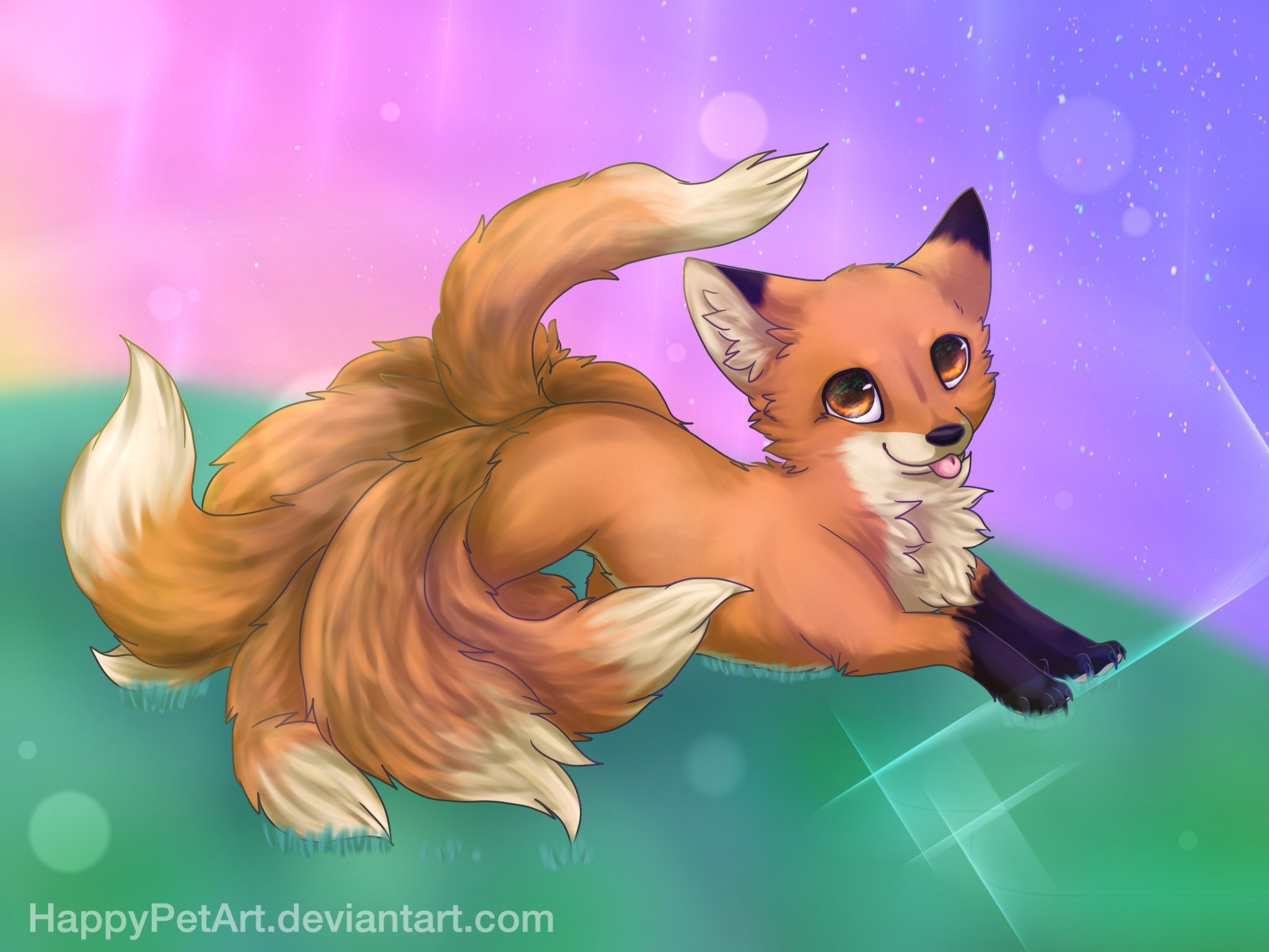 2048x1536 ... Nine-tailed fox by BingTatsu
