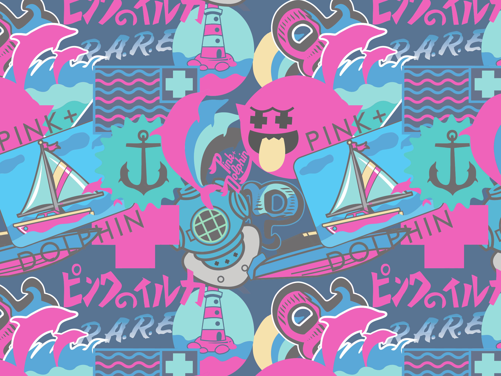 Pink Brand Wallpaper (67+ images)Pink Dolphin Wallpaper