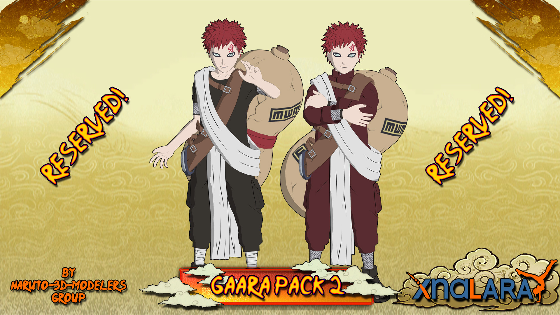 1920x1080 ... Naruto - Gaara PACK 2 FOR XPS by MVegeta