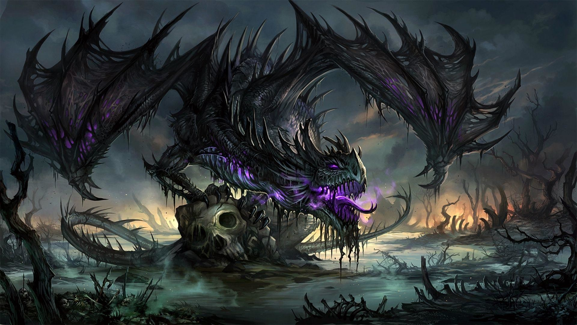 1920x1080  Purple Dragon Wallpaper - WallpaperSafari
