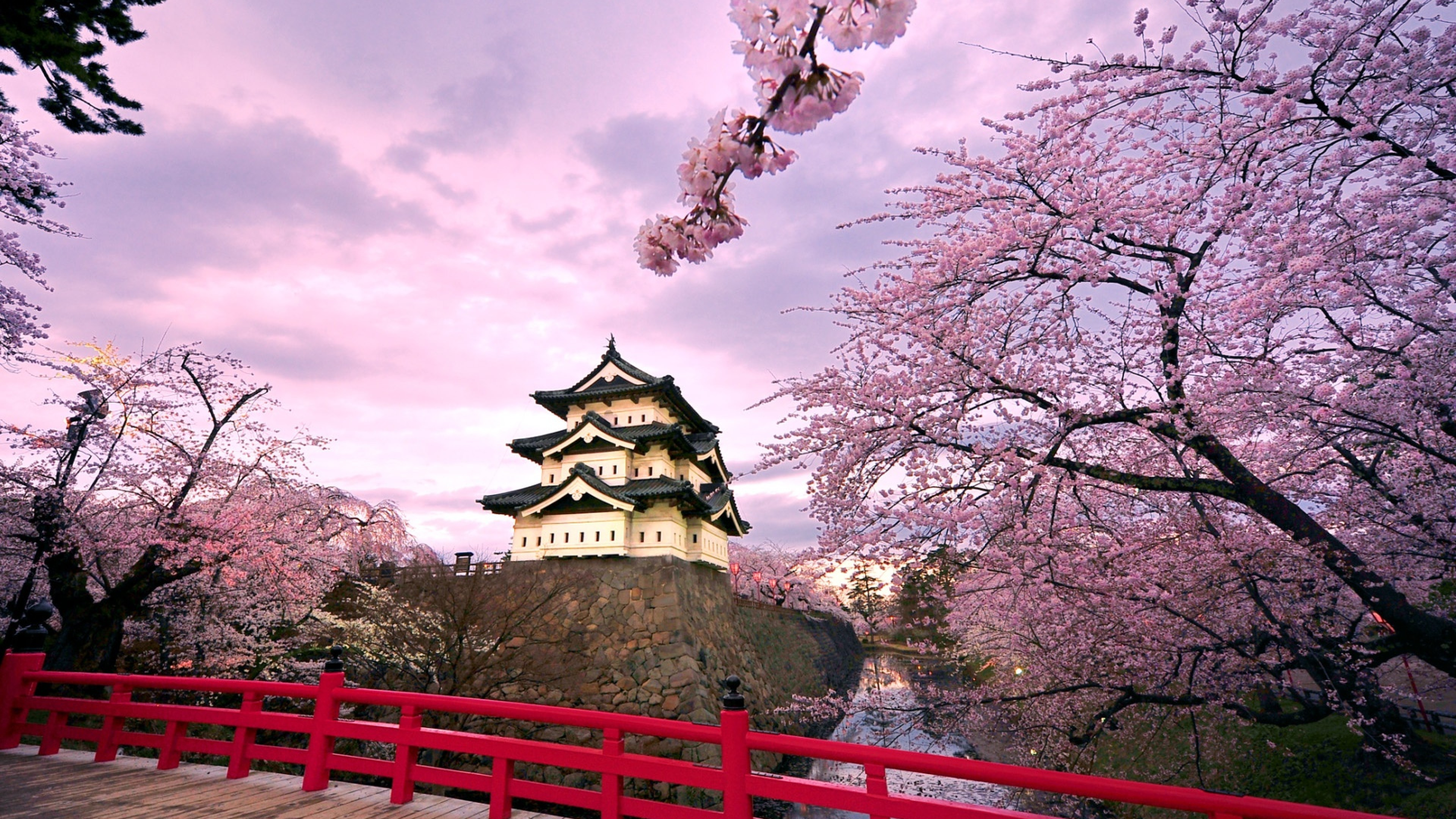 3840x2160 Download Hirosaki castle Japan Full HD Wallpaper