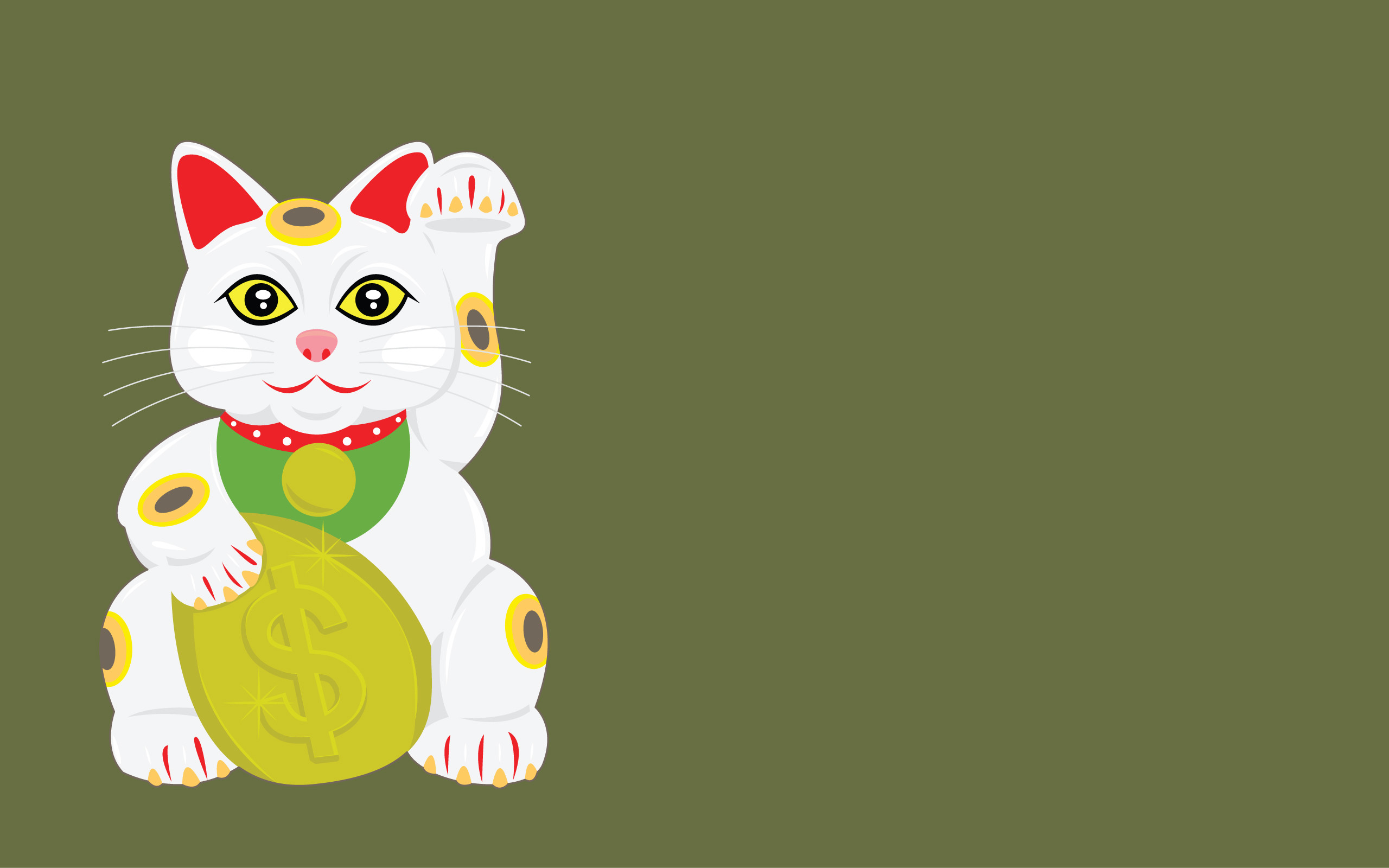 2560x1600 free vector lucky cat vector wallpaper 011184 lucky cat widejpg