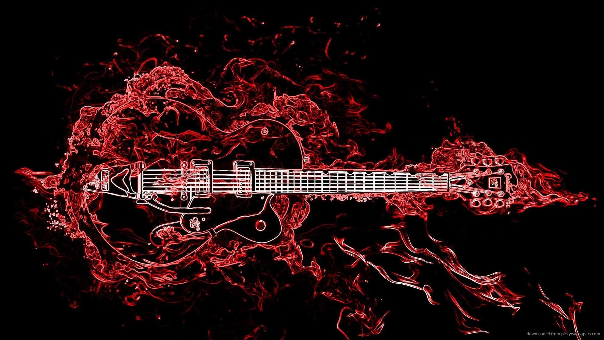 1920x1080 Neon Guitar for