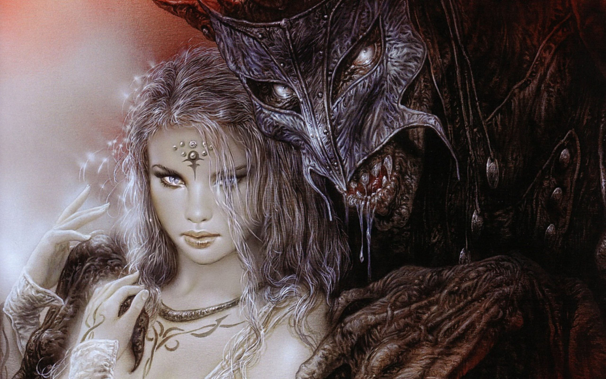 2560x1600 Luis Royo images Lady and Demon HD wallpaper and background photos