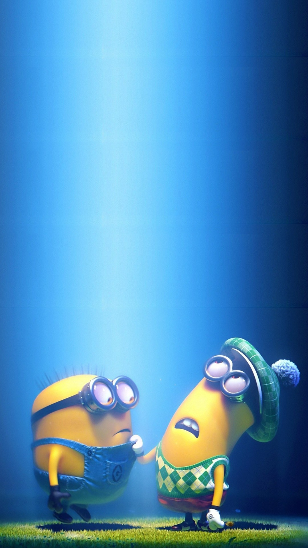 1080x1920 2014 Halloween minions iphone 6 plus wallpaper - blue sky, Despicable Me # iphone #