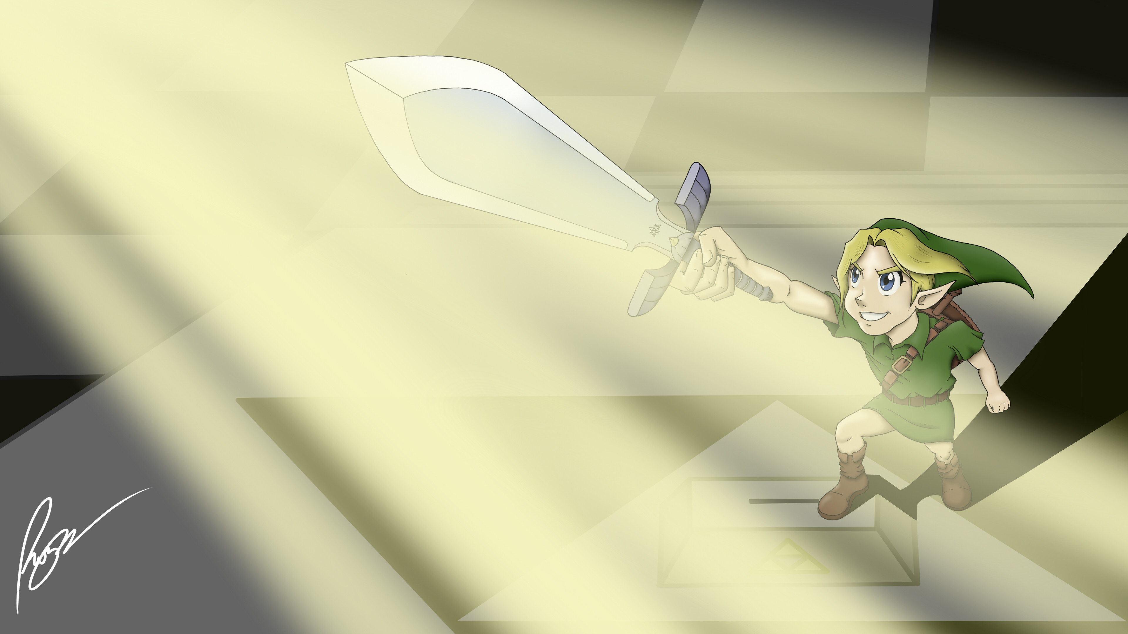 3840x2160 The Legend of Zelda - The Master Sword
