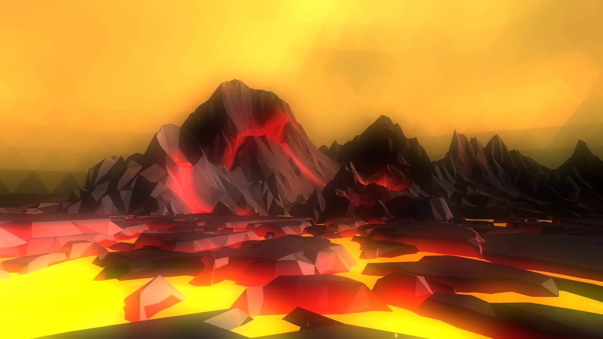 1920x1080 Volcano Fever 3D Live Wallpaper