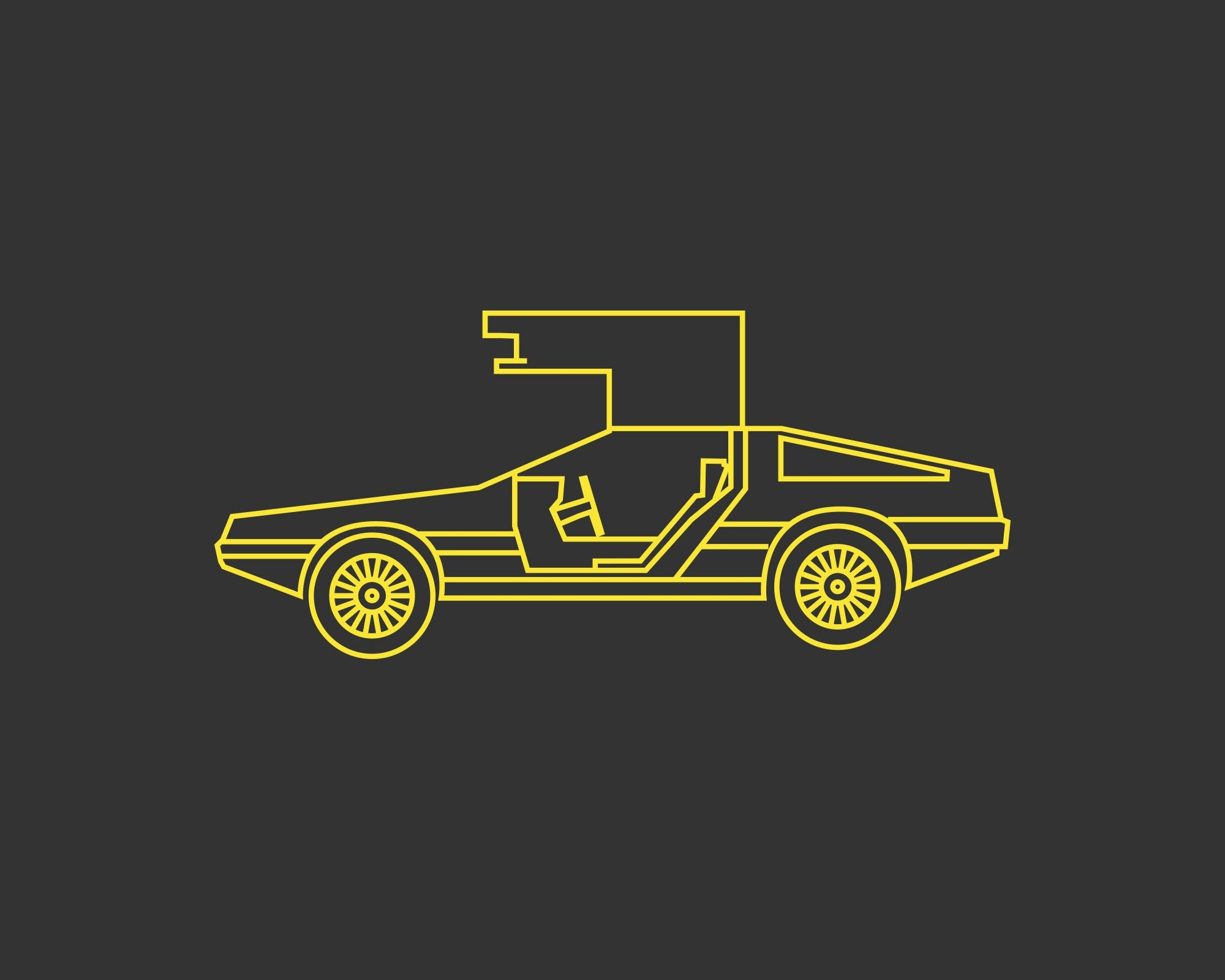 2000x1600 Download Delorean Desktop Wallpaper