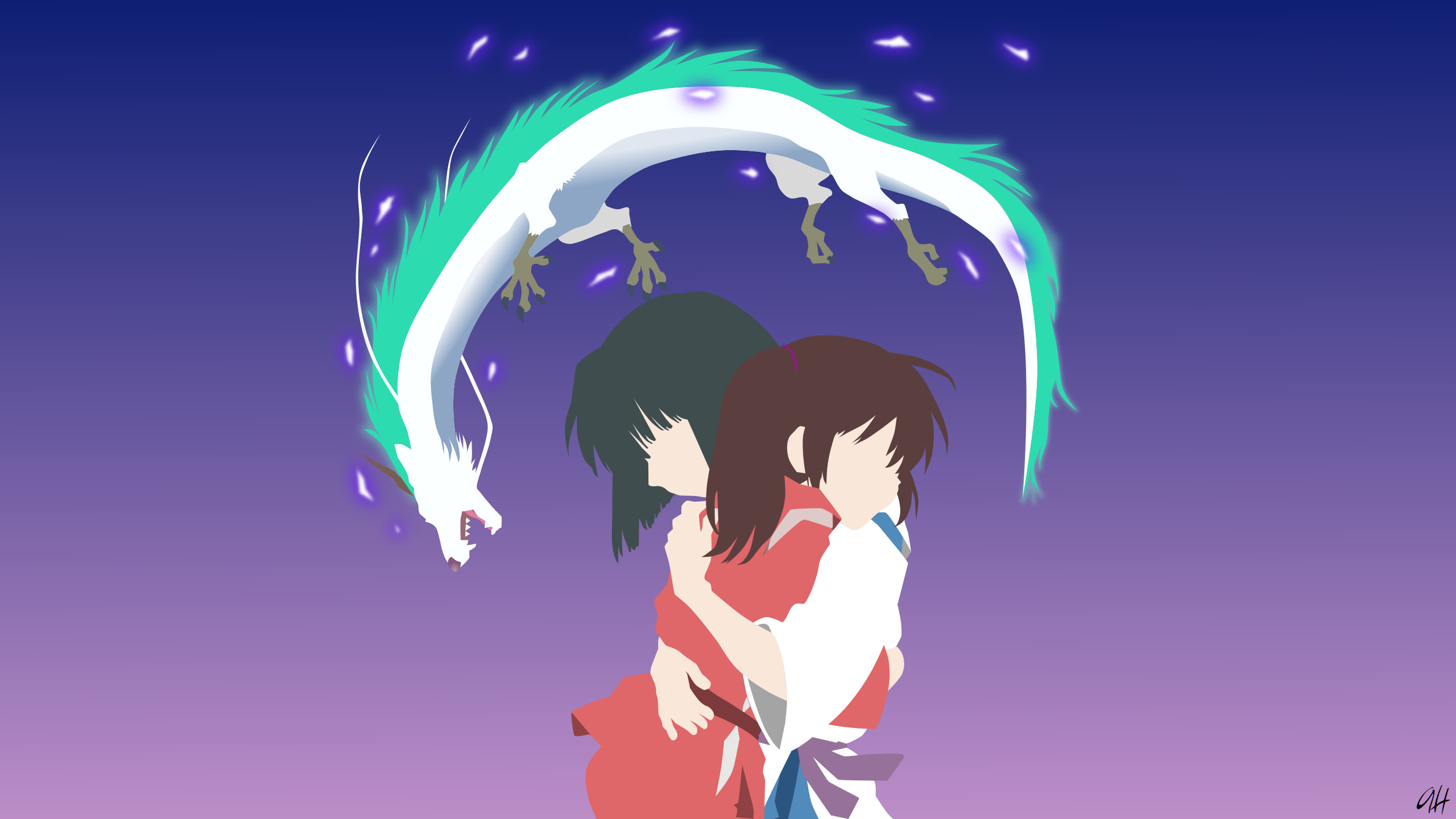 2560x1440 Spirited Away Minimalist Computer Wallpapers, Desktop Backgrounds .
