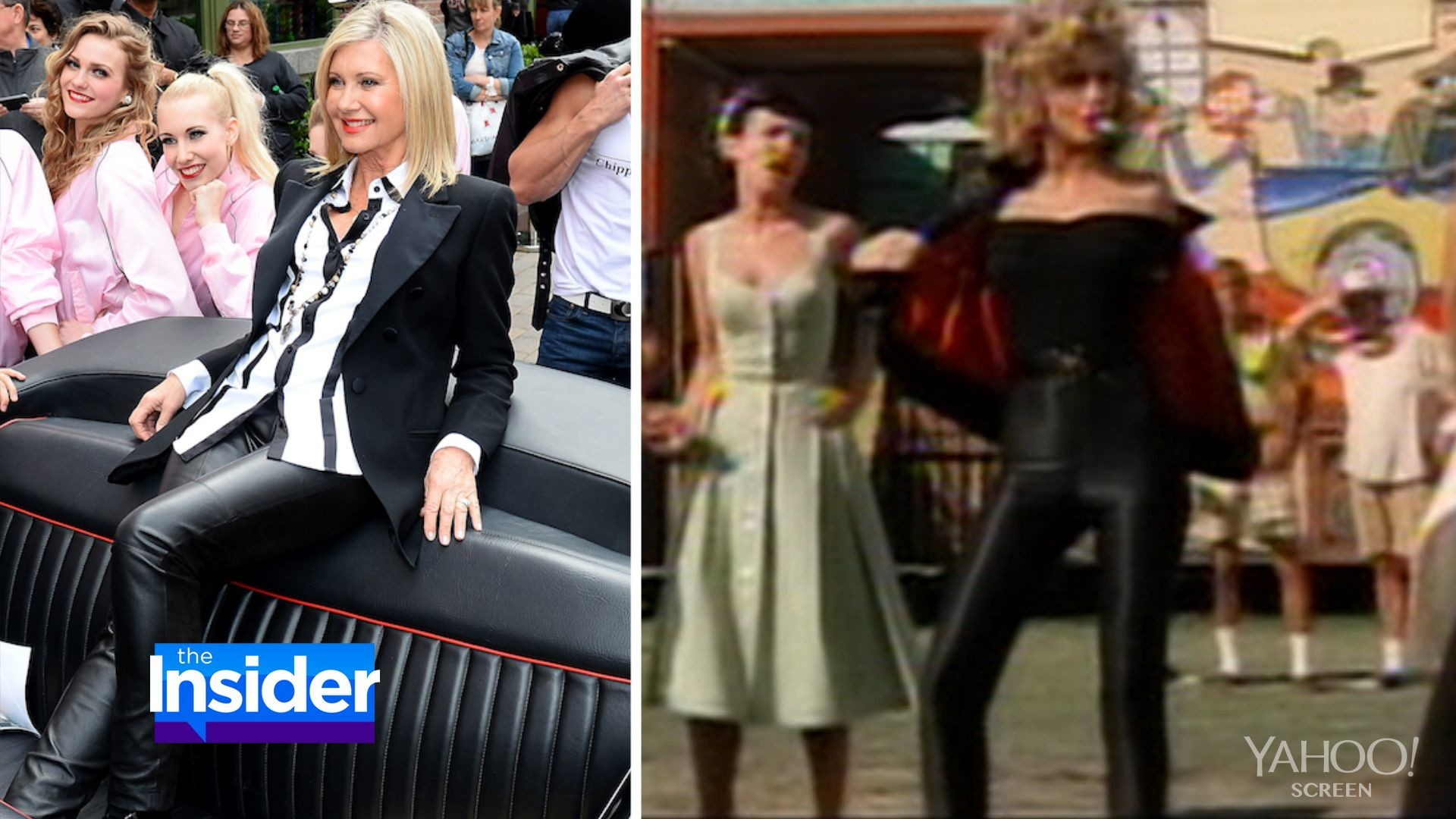 1920x1080 Olivia Newton-John Slips Into Black Leather Pants 36 Years After 'Grease'
