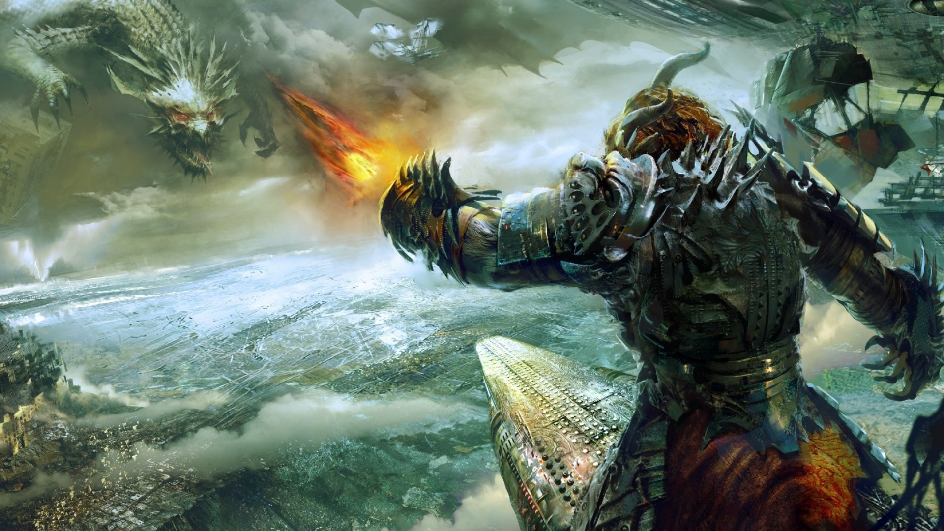 1920x1080  Wallpaper guild wars 2, heart of thorns, battle