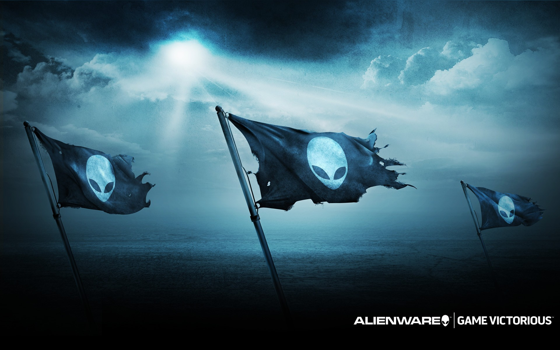 1920x1200 Pirate flag with an alien