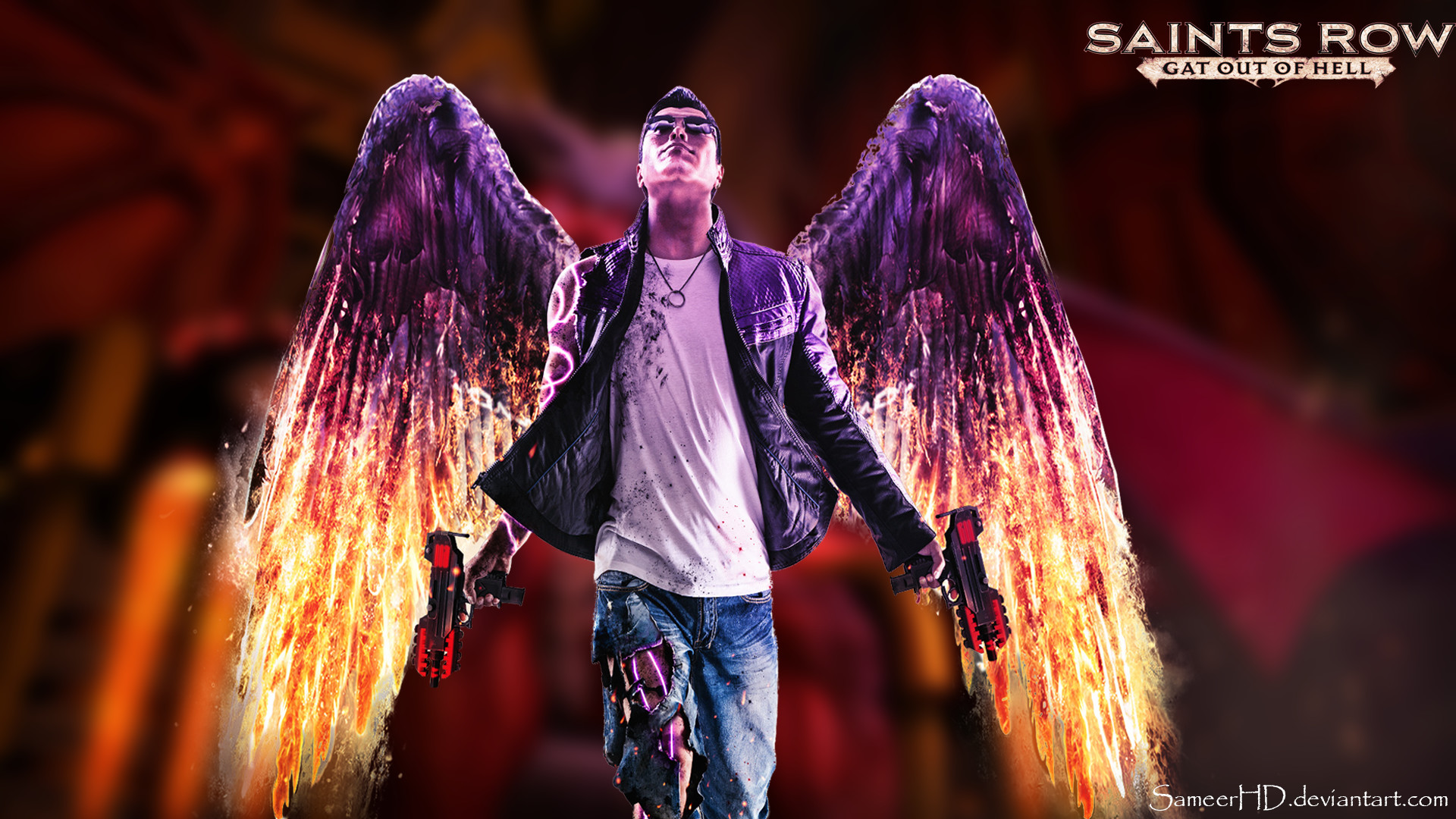 1920x1080 ... Saints Row: Gat Out Of Hell Johnny Gat Wallapaper by SameerHD