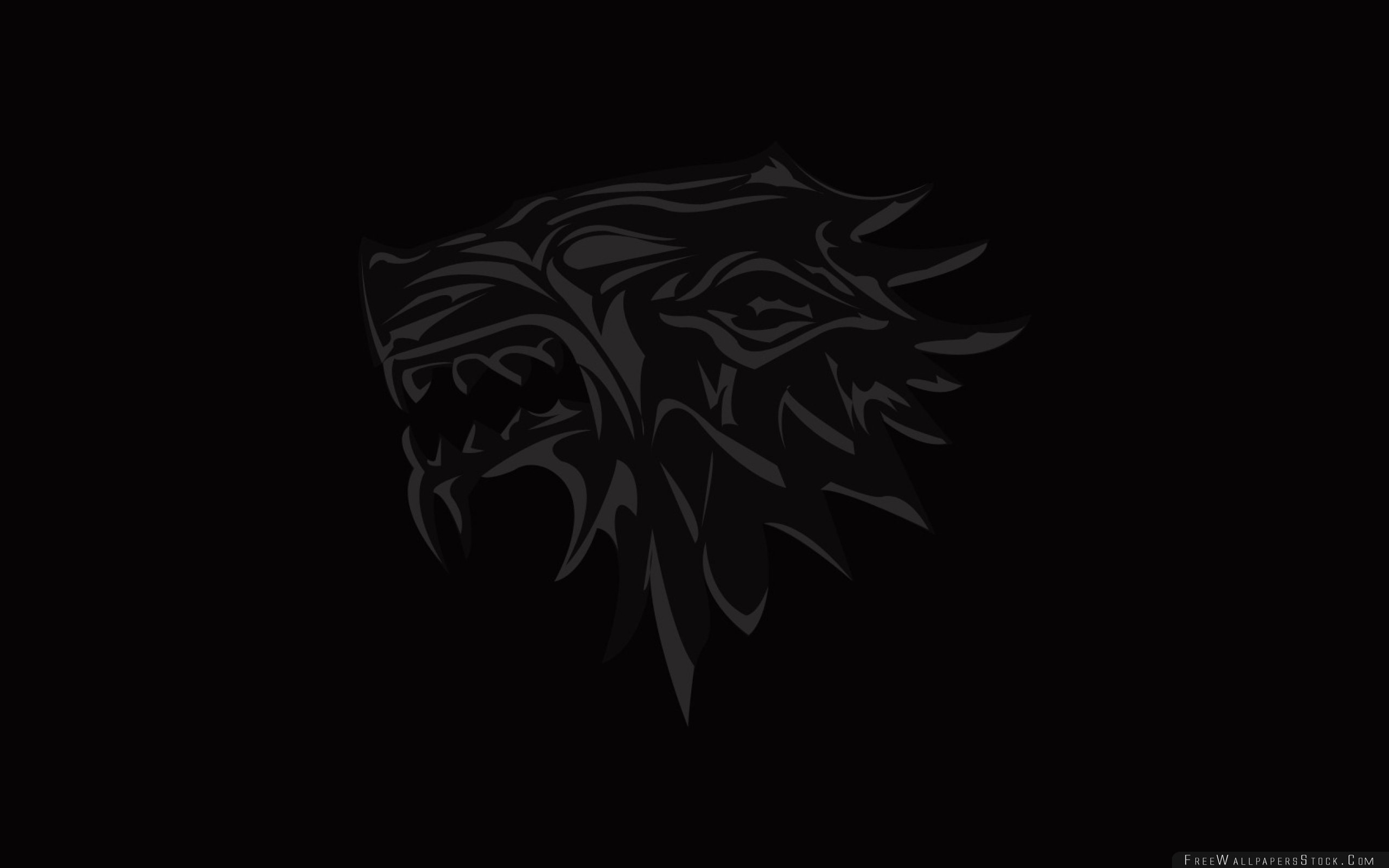 2560x1600 Download Free Wallpaper House Stark Game Thrones Logo Emblem Wolf