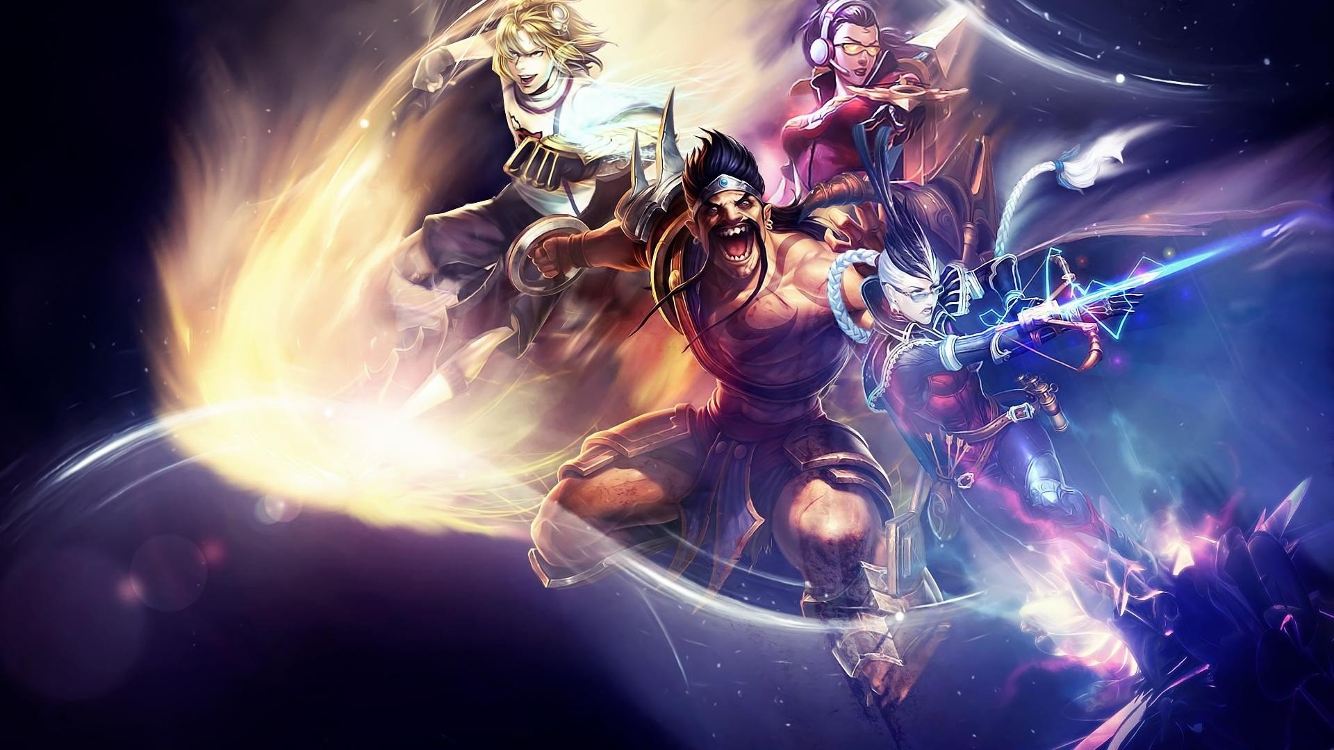 1920x1080 League of legends draven vayne ezreal.