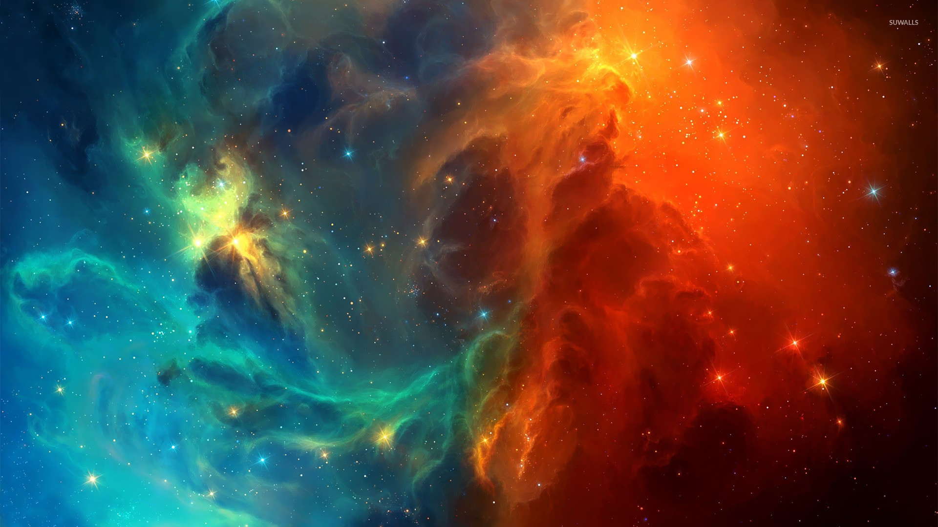 1920x1080 Outer space colorful stars nebulae wallpaper x