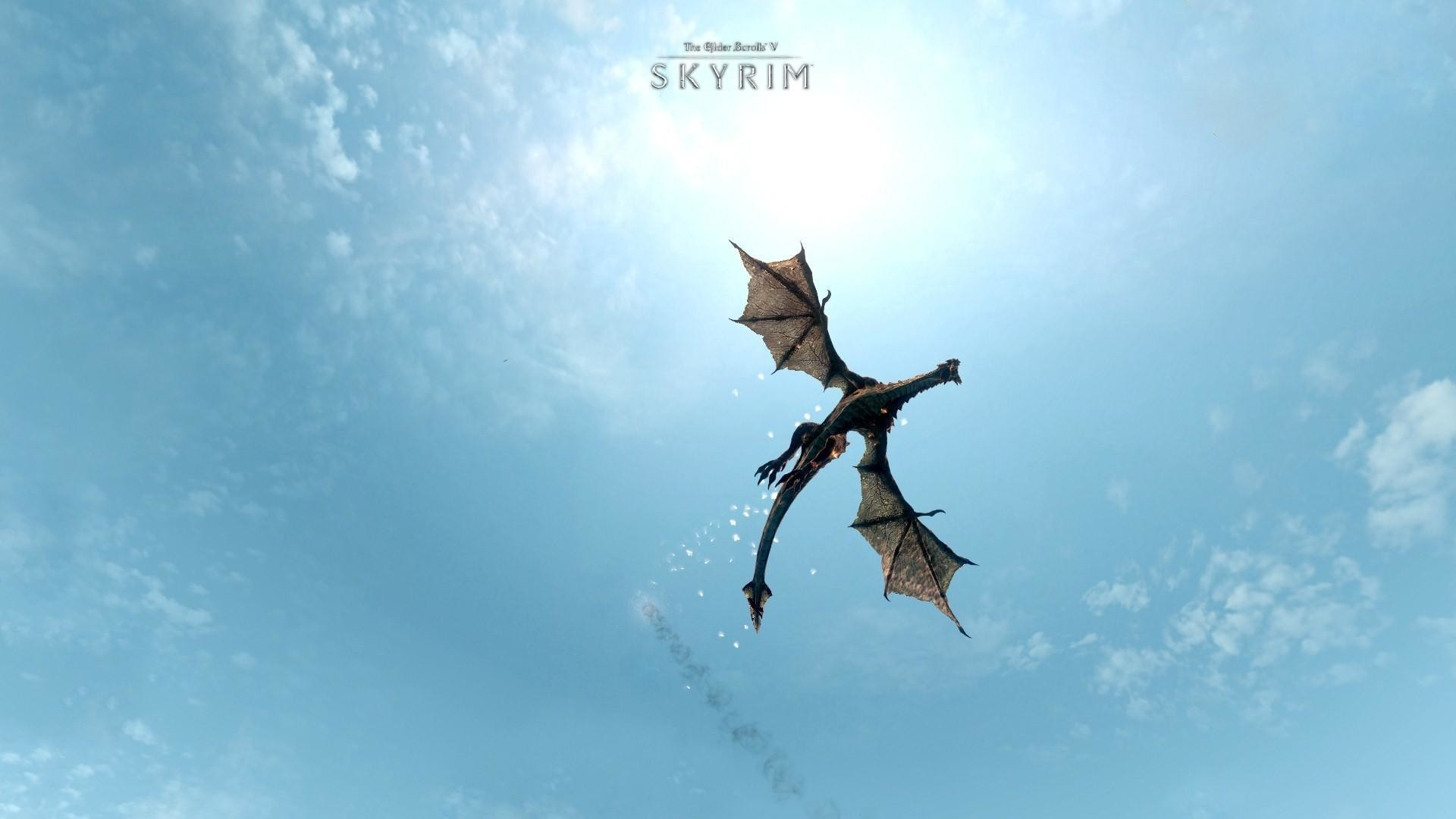 Skyrim Dragon Wallpaper 67 Images