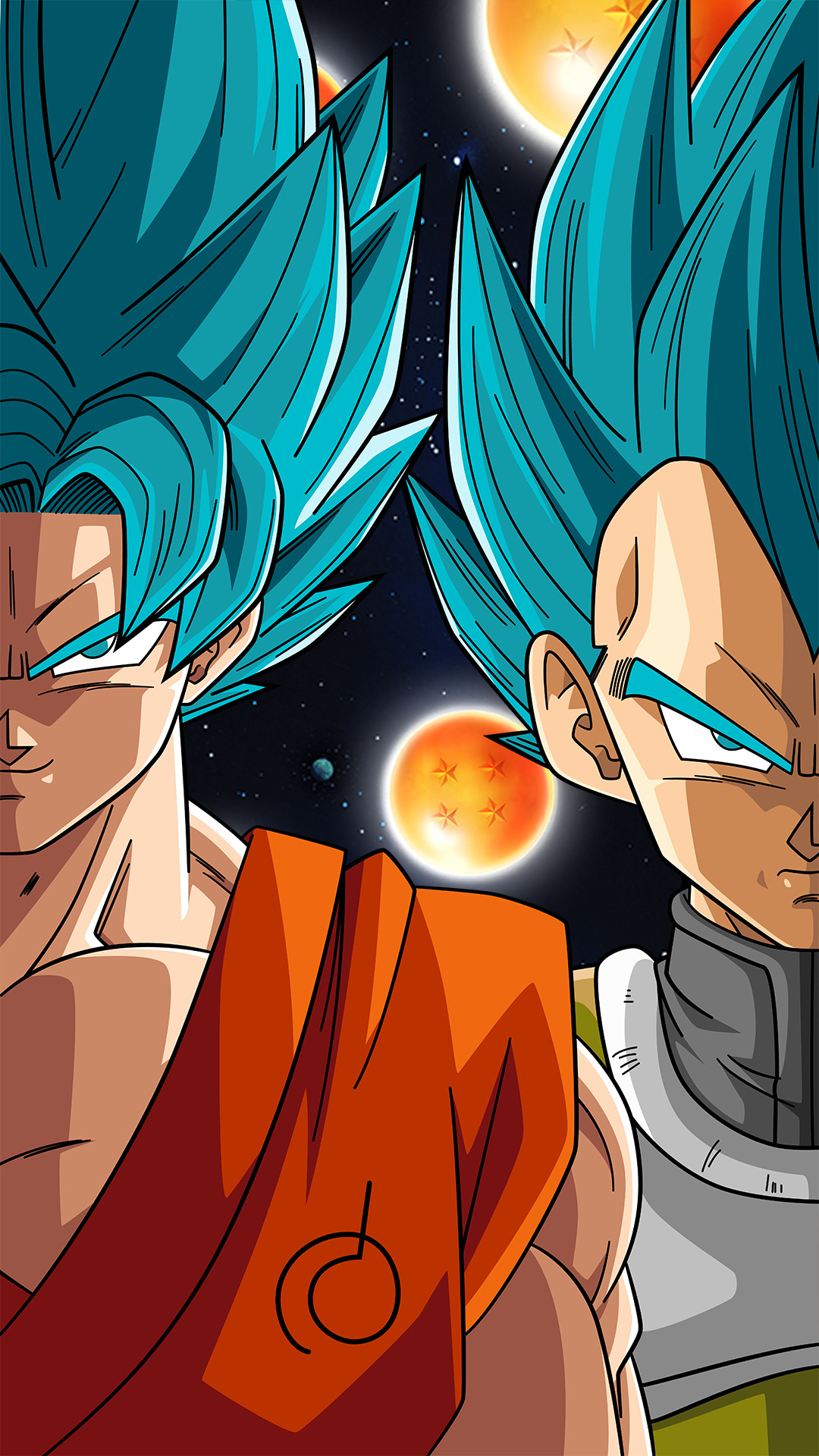 SSB Goku And Vegeta Phone Wallpaper By RayzorBlade189