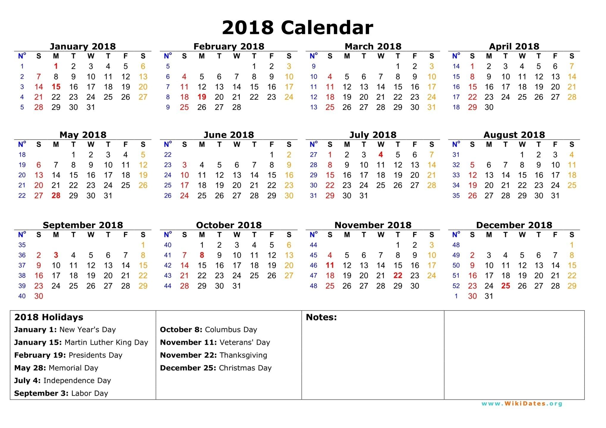 2018 Wallpaper Calendar (72+ images)