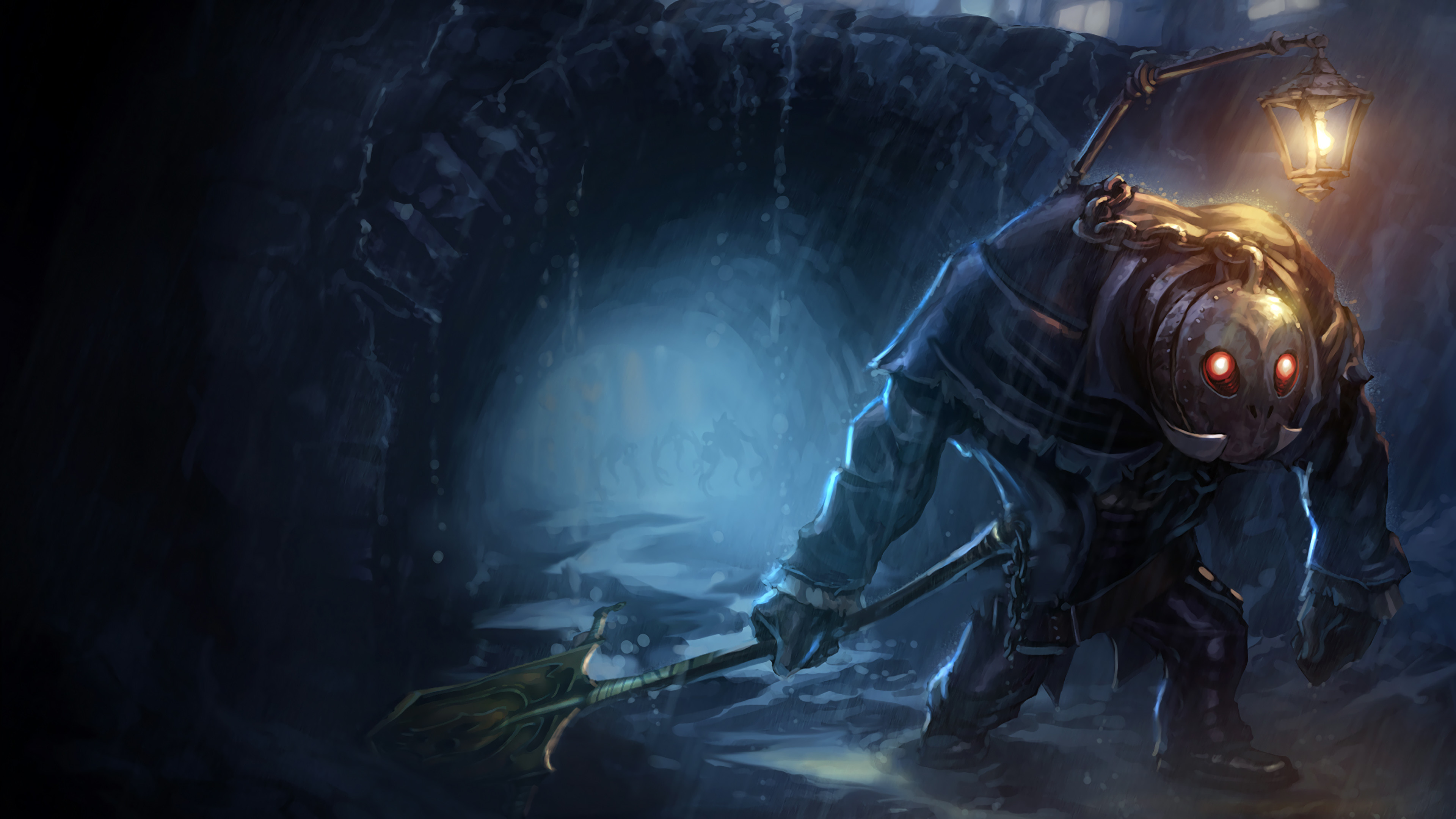 3840x2160 Undertaker Yorick Splash Art Old League of Legends Artwork Wallpaper lol