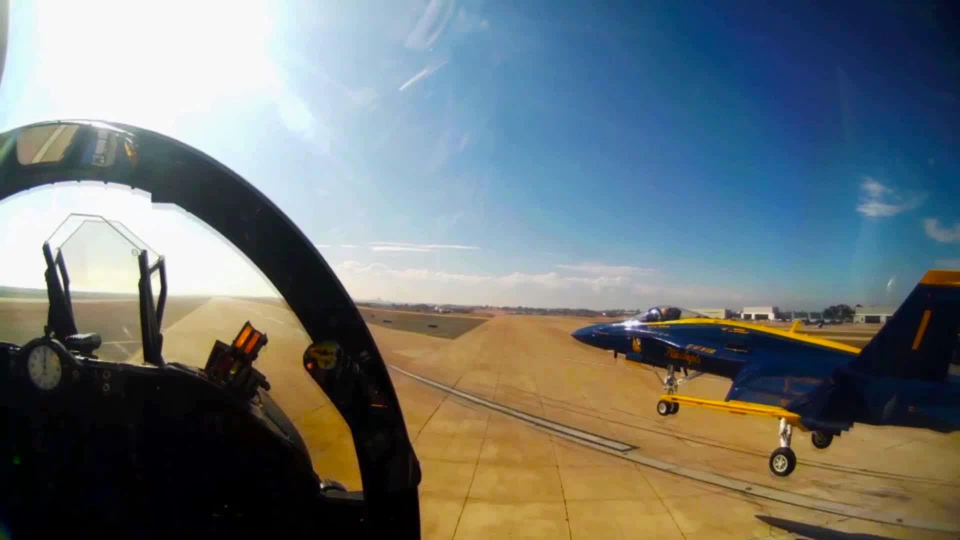 1920x1080 Blue Angels Diamond Take-off Half Squirrel Cage - Cockpit View (2013)