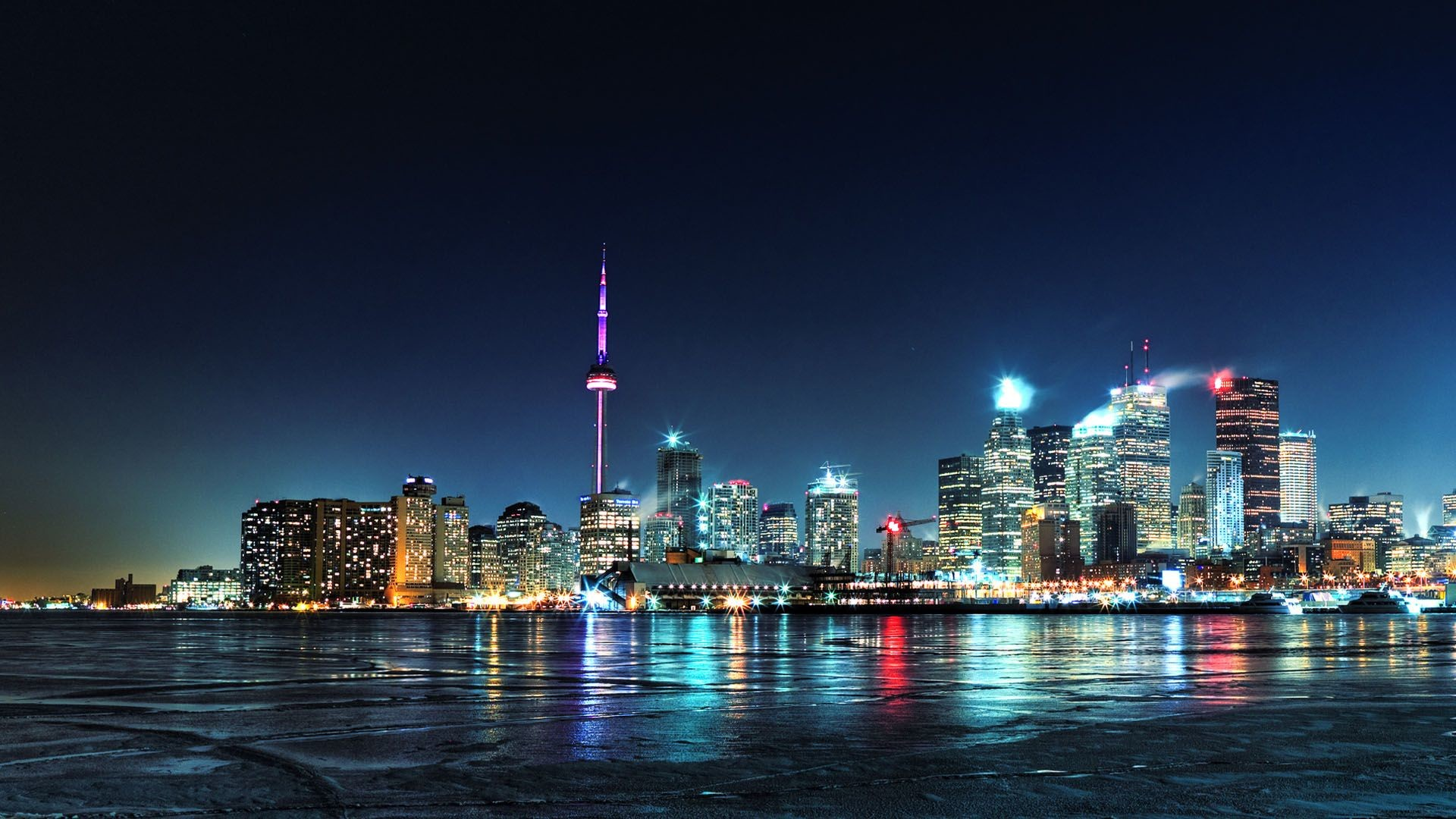 1920x1080 wallpaper tags toronto night city city lights share this wallpaper
