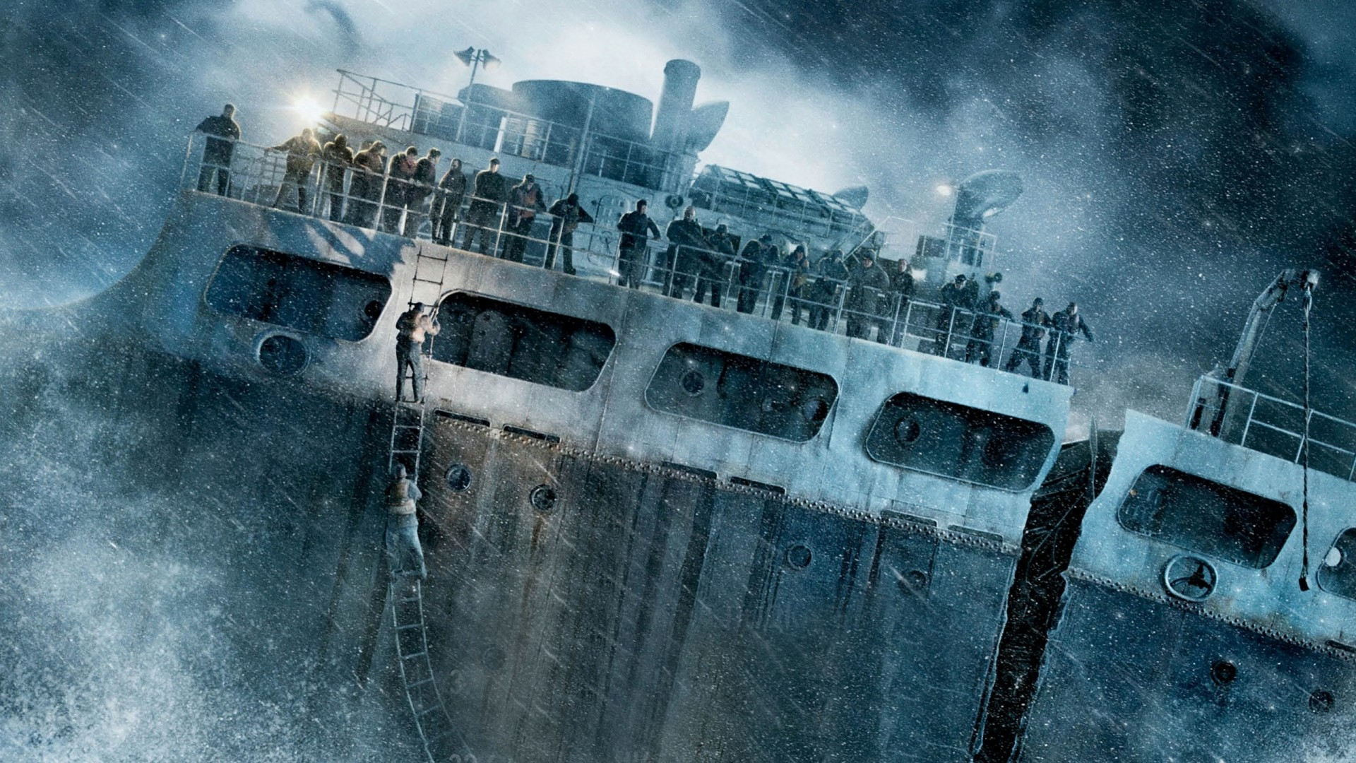 1920x1080 Preview wallpaper the finest hours, ship, wreck, storm