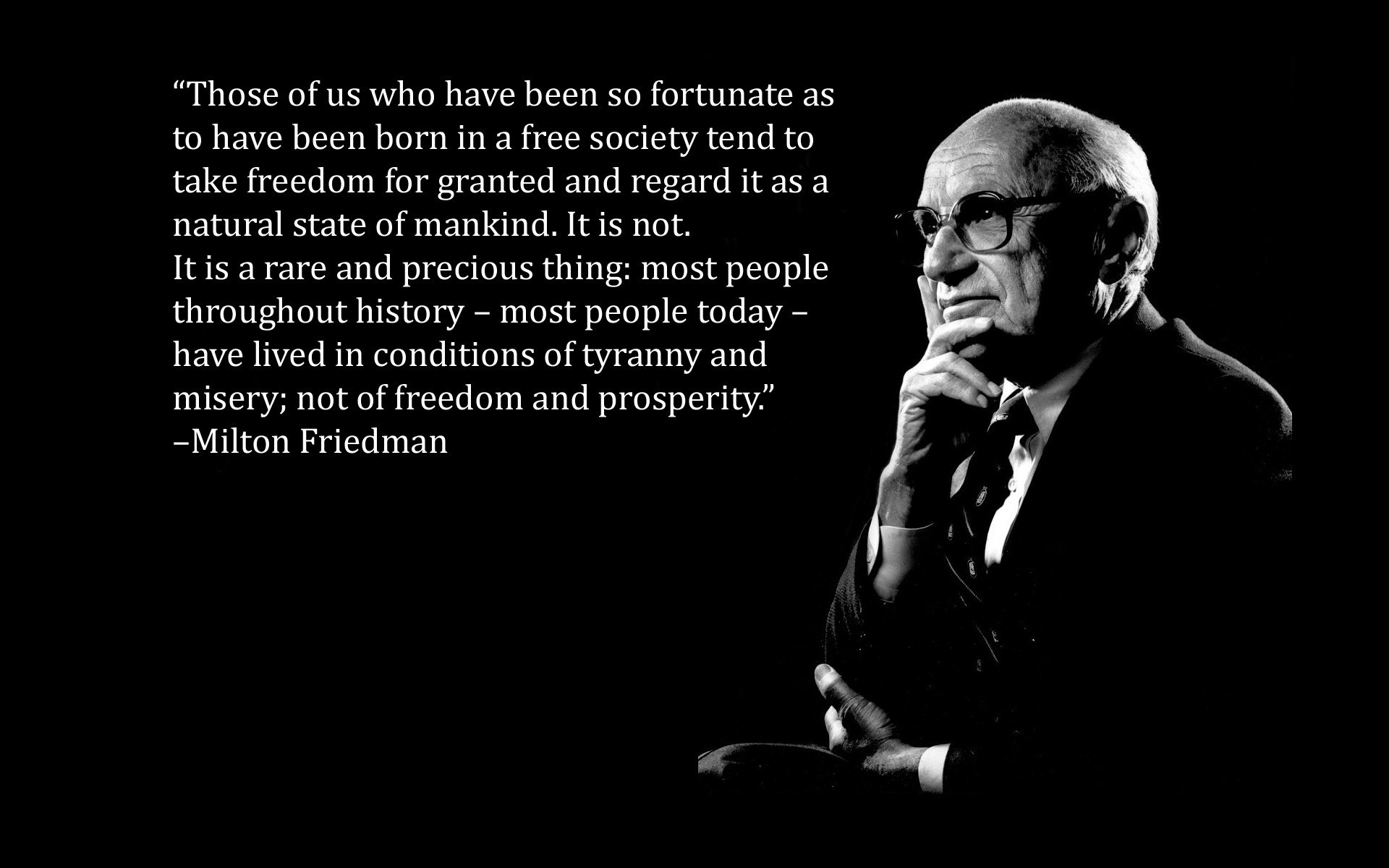 1920x1200 Text quotes black background Milton Friedman wallpaper |  | 185063  | WallpaperUP