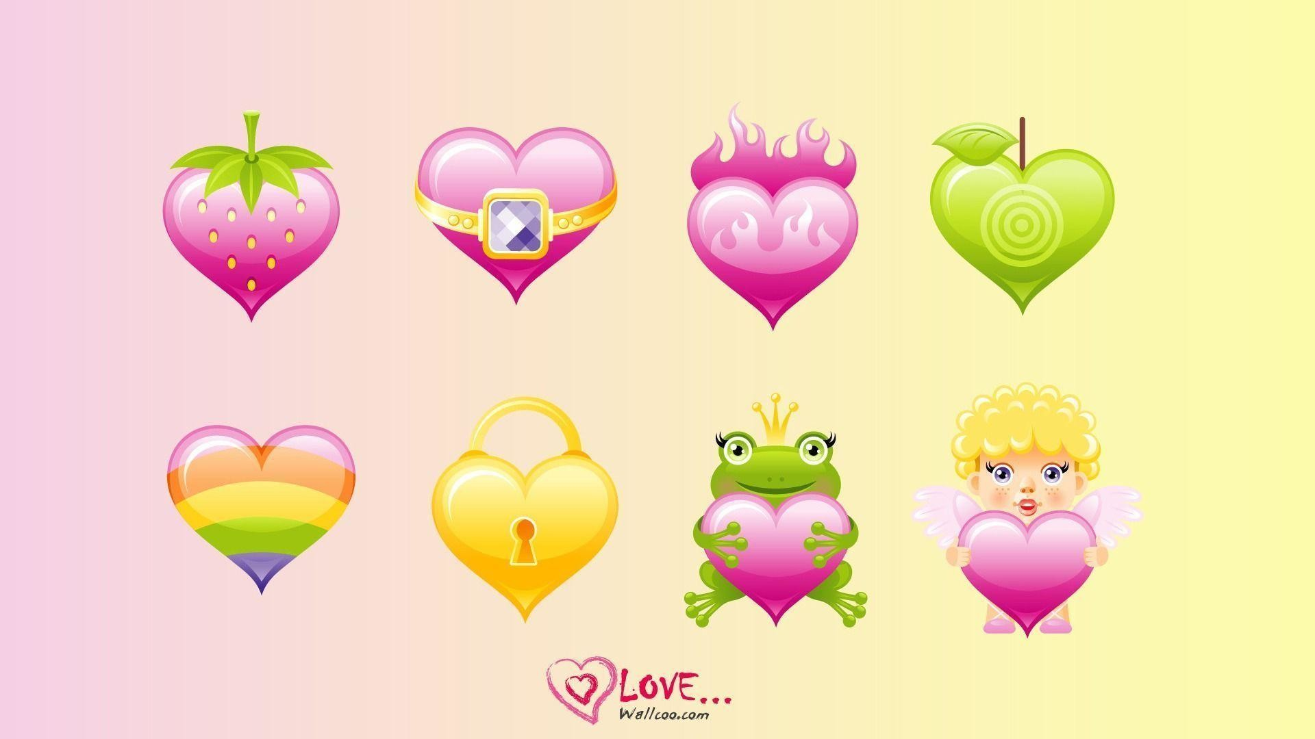 1920x1080 Free Download cute hearts backgrounds love wallpaper with original .
